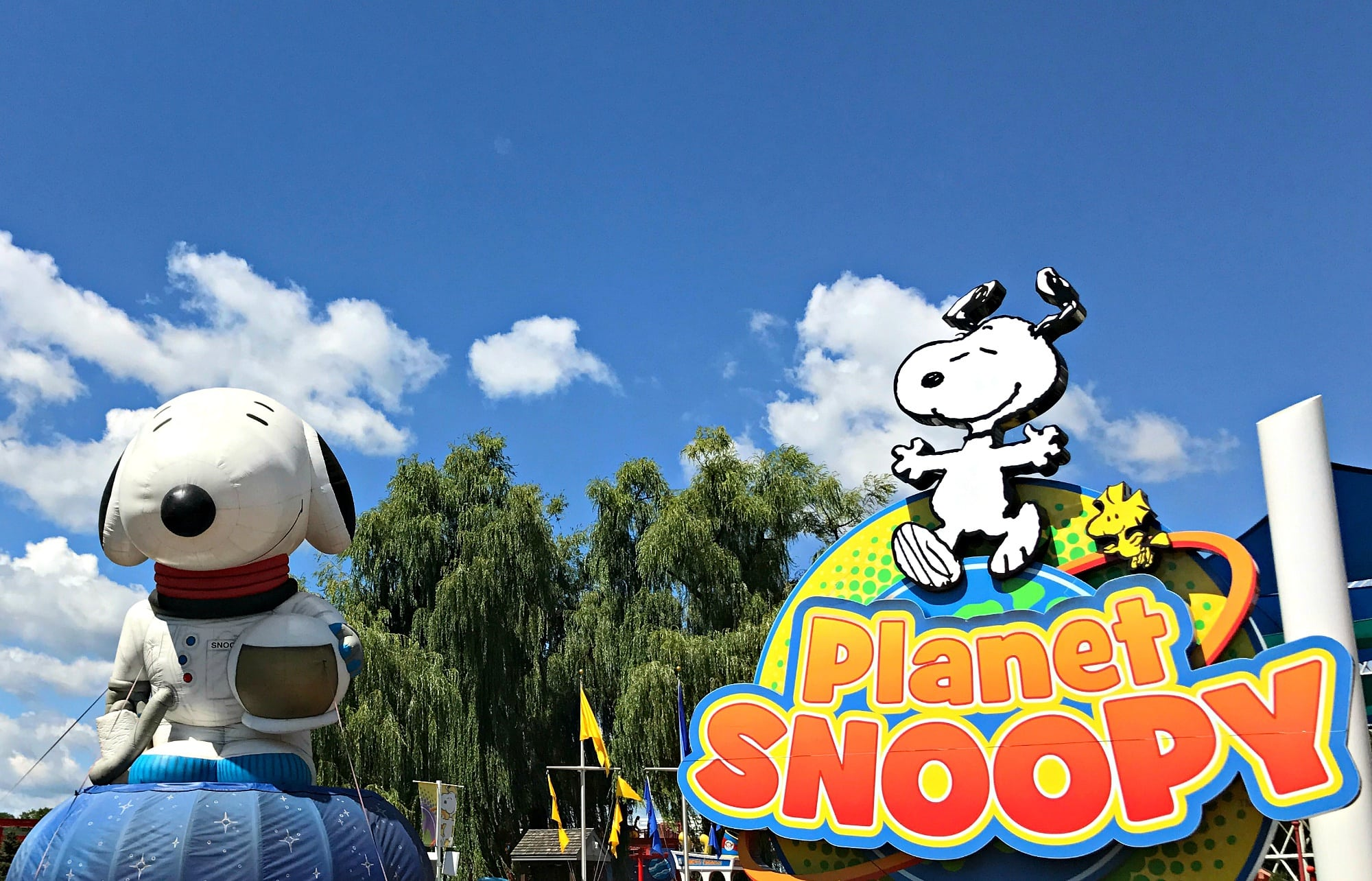 Planet Snoopy at Valleyfair features 17 rides for kids