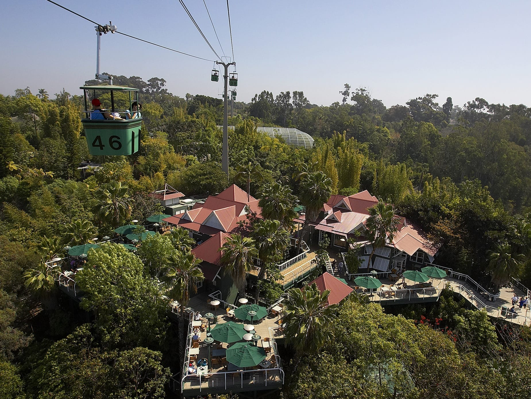 The Skyfari ride provides great views of San Diego Zoo with kids