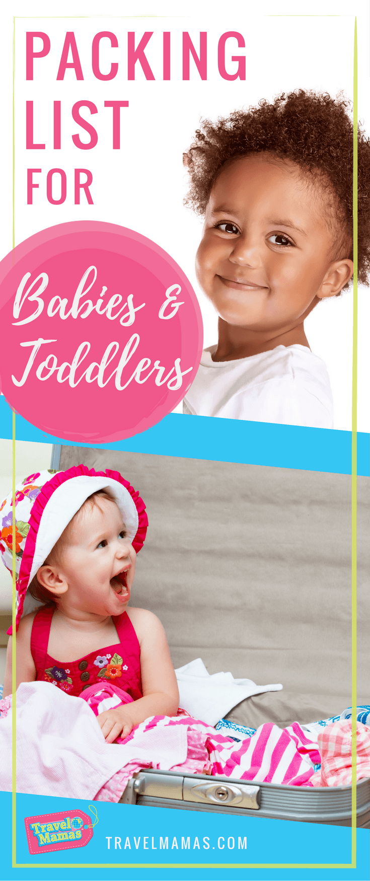 Packing list for babies and toddlers