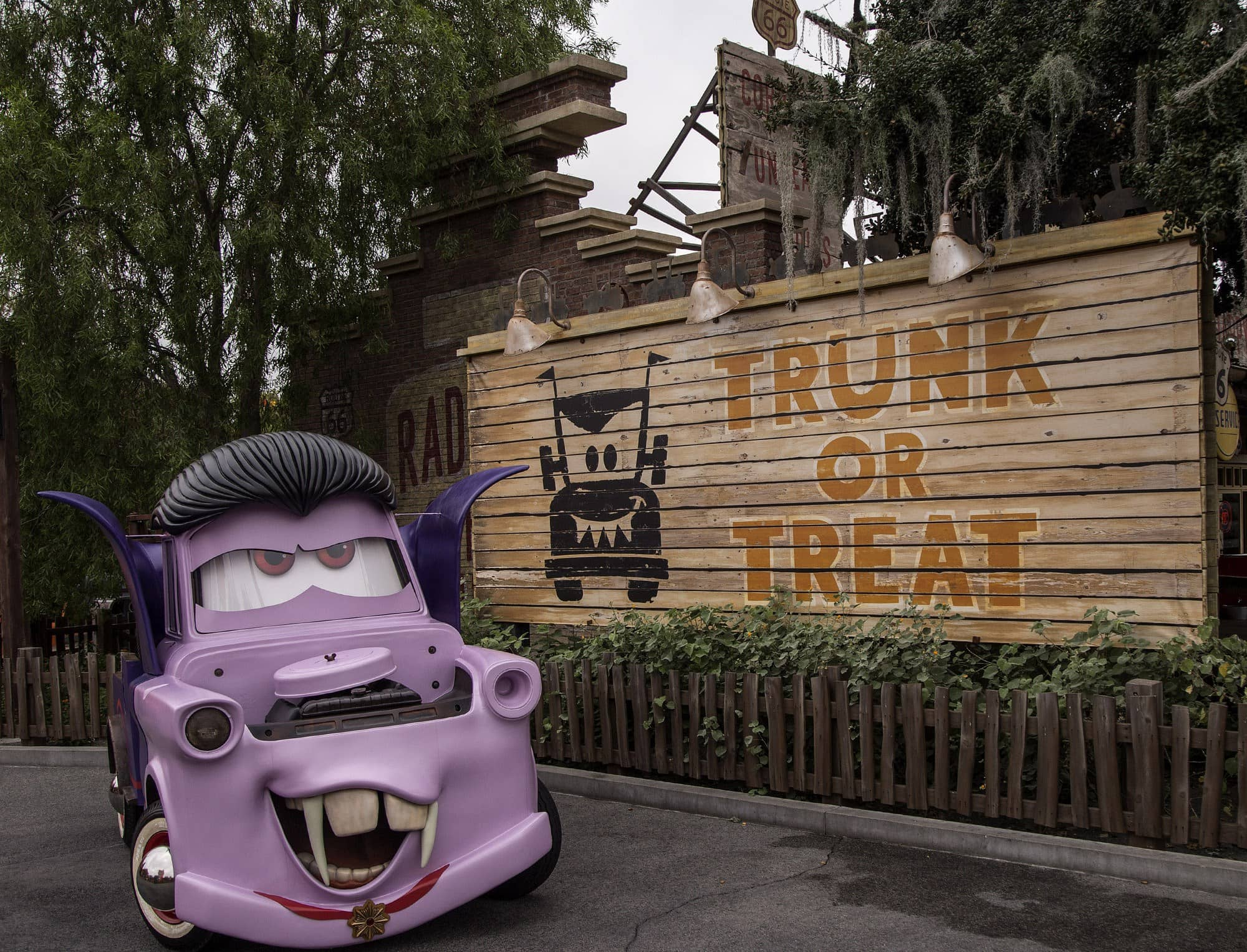 Mater dressed up as a vampire for Cars Land Haul-O-Ween ~ 10 Tips for Mickey's Halloween Party with Kids