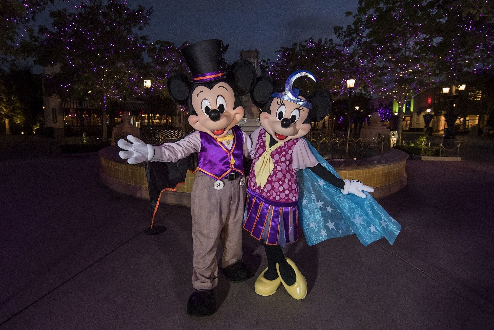 Even Mickey and Minnie get dressed up for Halloween Time at Disneyland