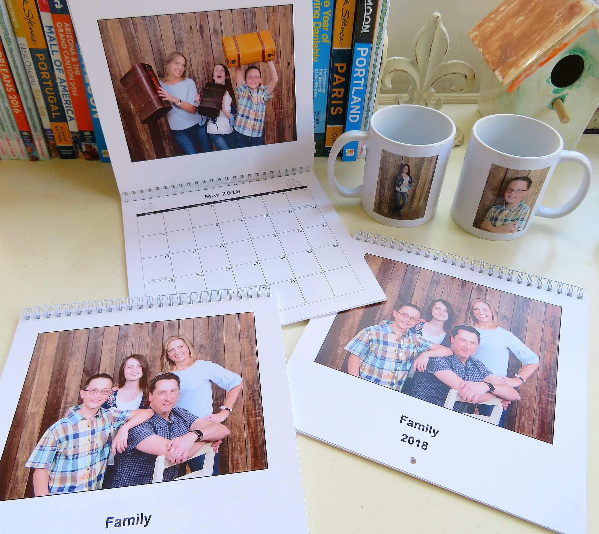 I couldn't resist buying some Portrait Studio photo gifts like calendars and coffee mugs