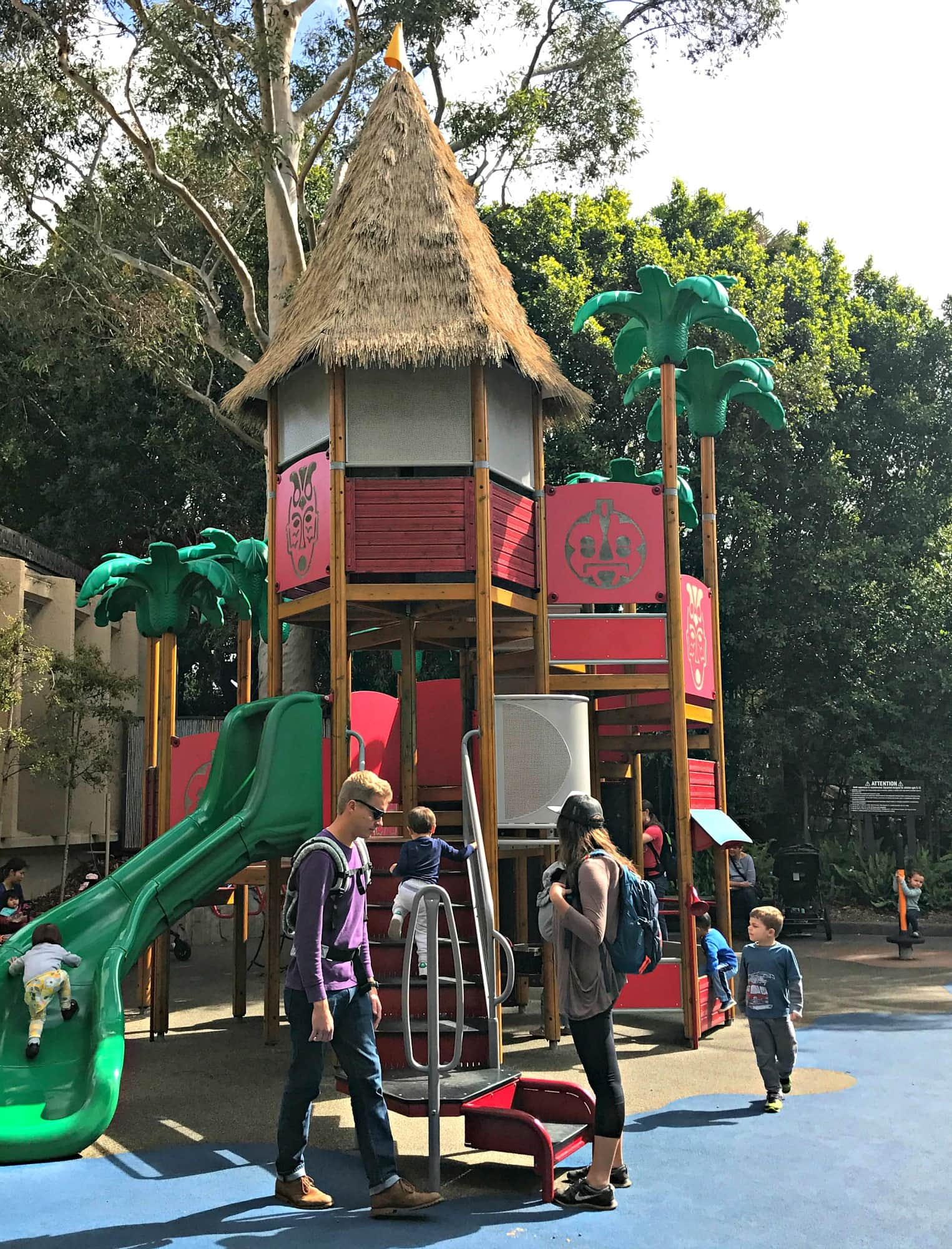 Discovery Playground at San Diego Zoo with kids
