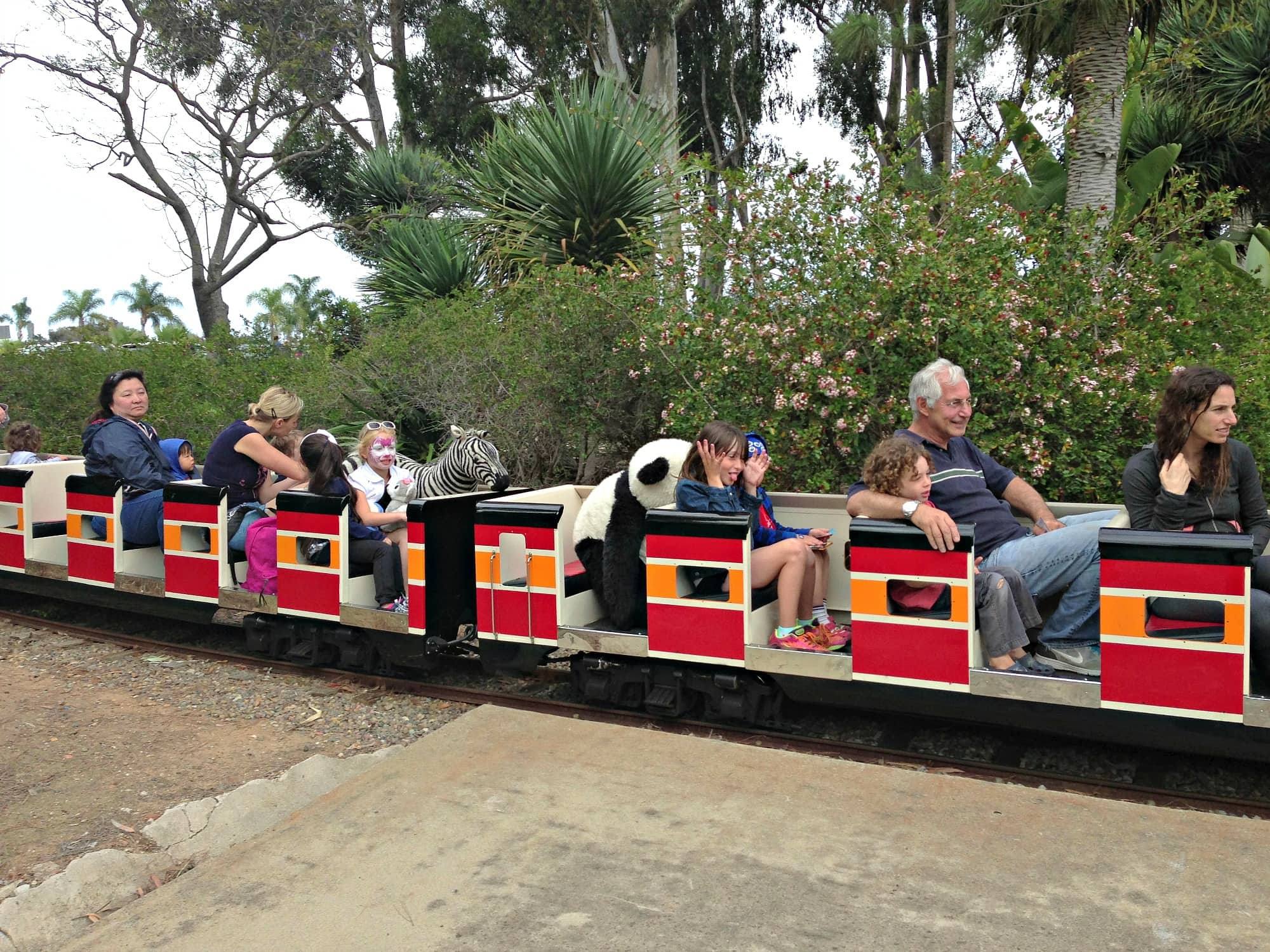 Top of your visit to the San Diego Zoo with kids with a ride on the Balboa Park Railroad
