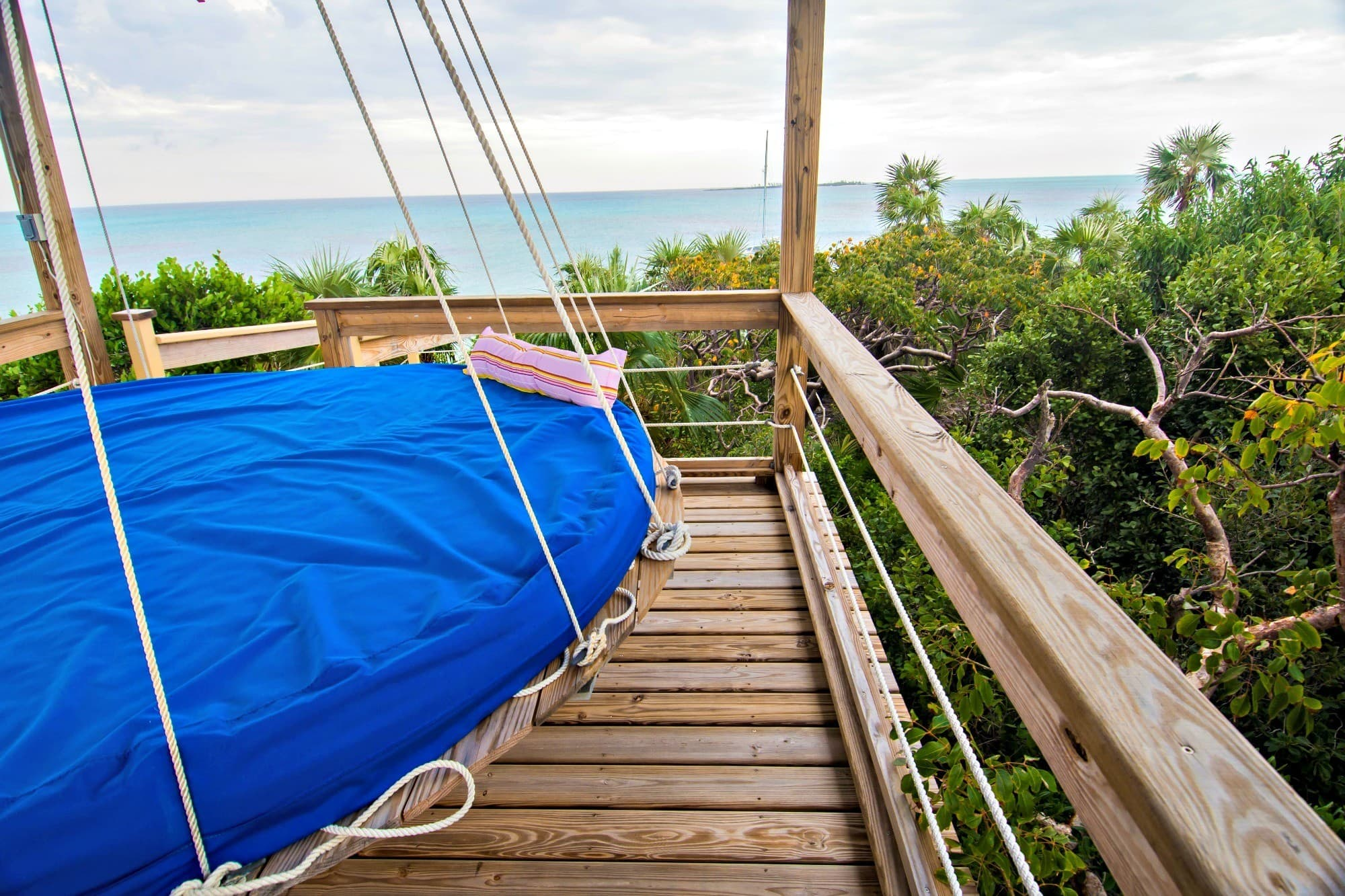 Wouldn't you like to hang out on a king-sized swing bed for a few hours at Sandy Toes Bahamas?