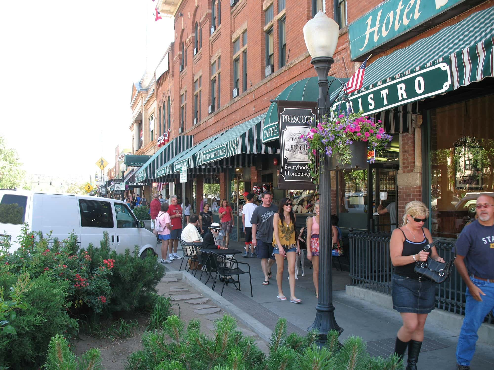 Once a red light district, Whisky Row is now filled with shops, restaurants and, yes, saloons