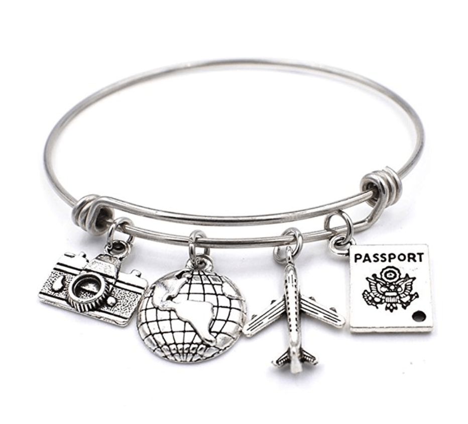 travel bangle bracelet ~ gift ideas for travel lovers from amazon.com