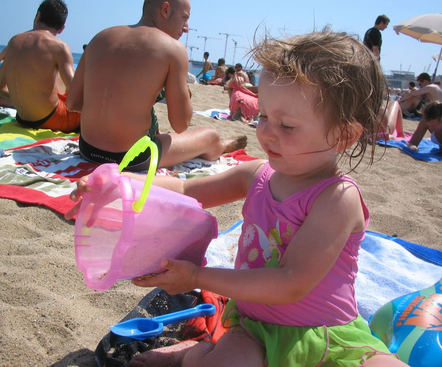 A day at a Barcelona beach with kids