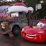 Even Tow Mater is decked out for the Disneyland holiday season