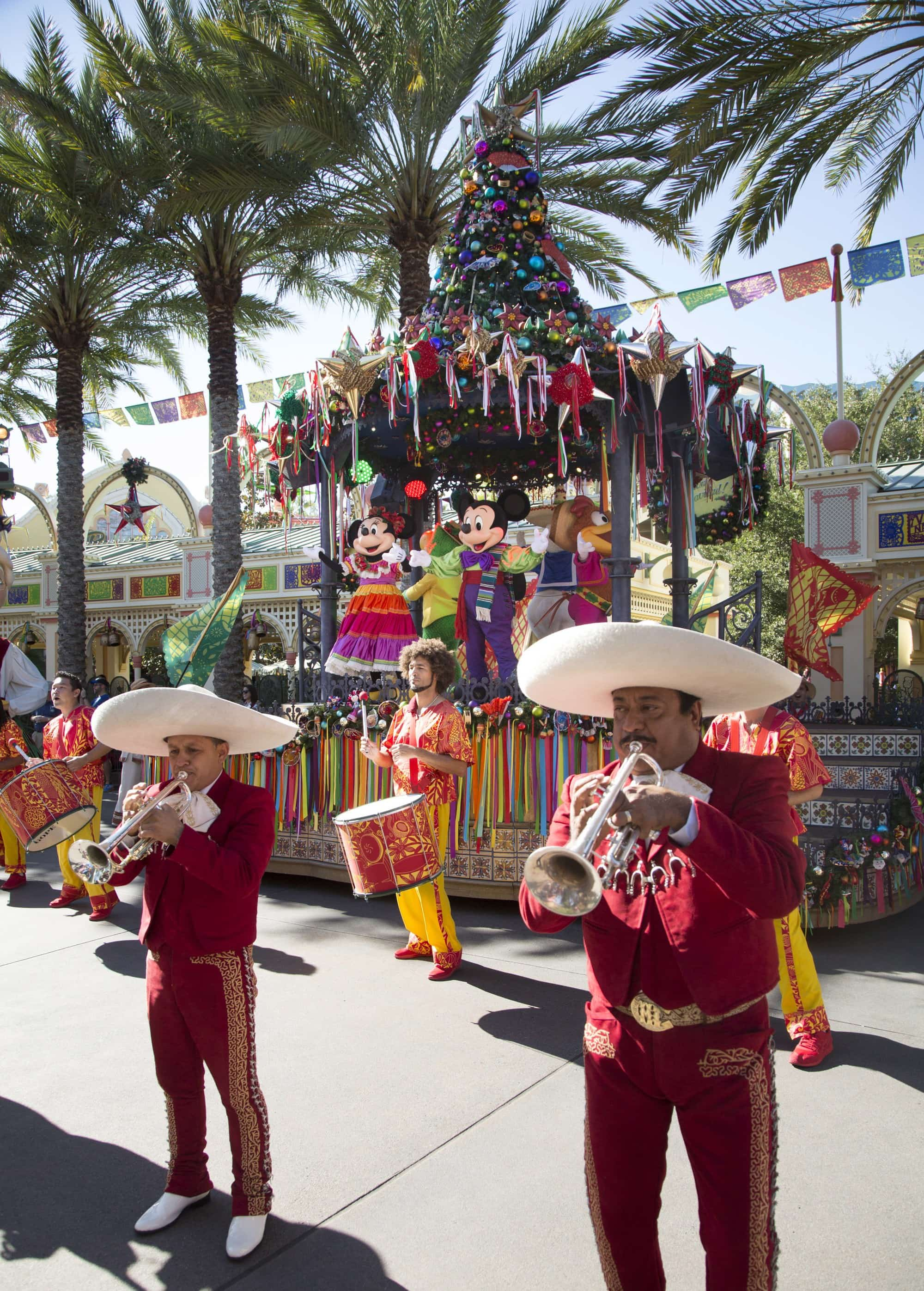 Special parades and concerts are included at no additional charge at Disneyland during the holidays