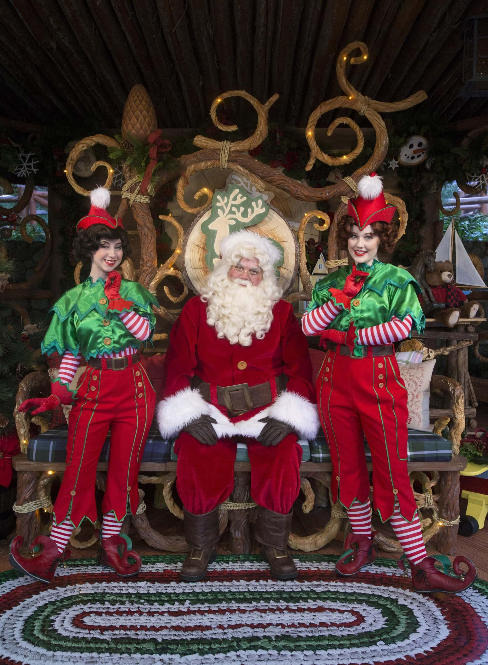 Santa at Disneyland during the holidays