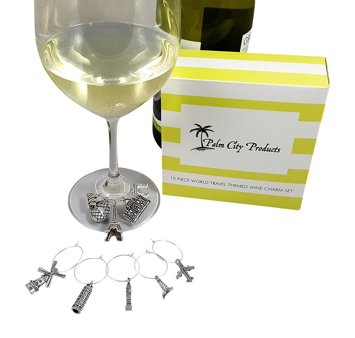 travel wine charms - great gift ideas for travel lovers from amazon.com
