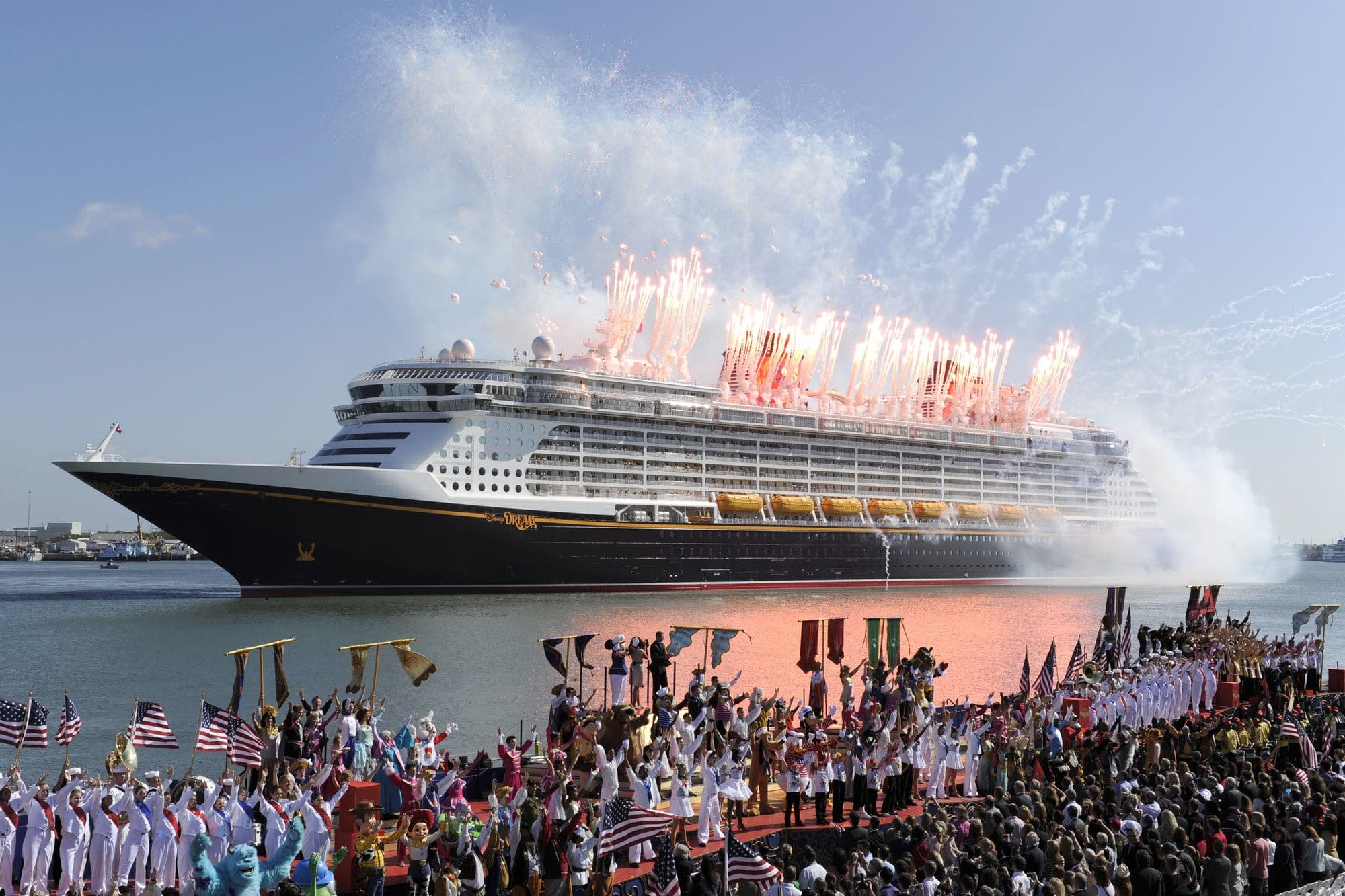 Fireworks at Disney Dream Ship christening
