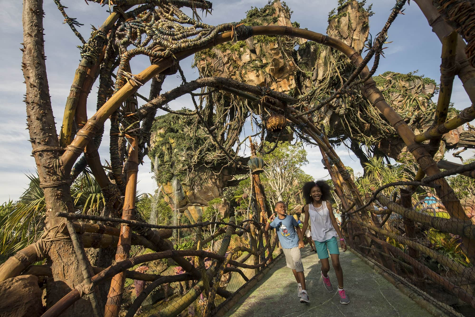 Teens exploring Pandora - The World of Avatar at Disney's Animal Kingdom ~ Disney World with Teens & Tweens
