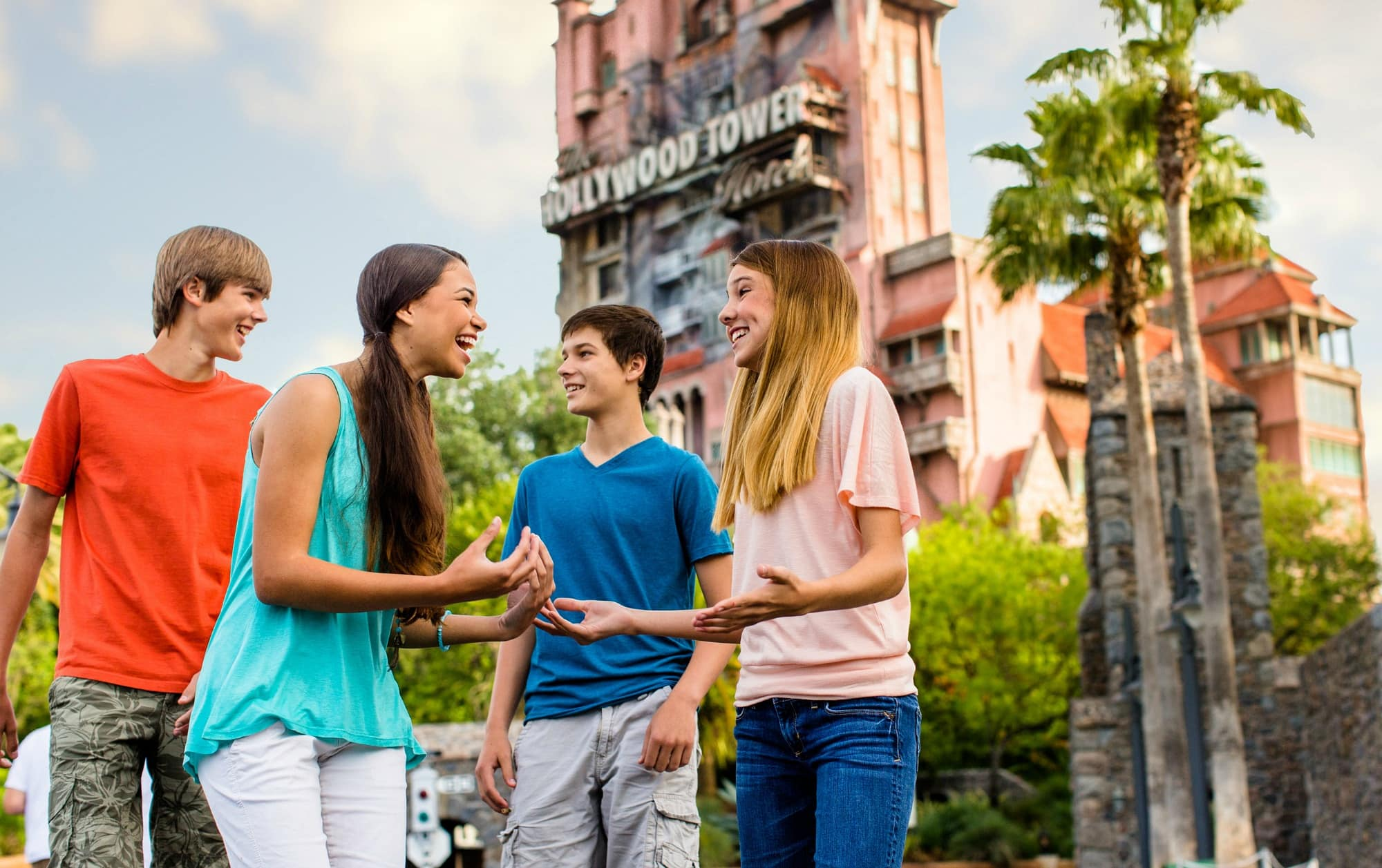 Teens exploring Disney World
