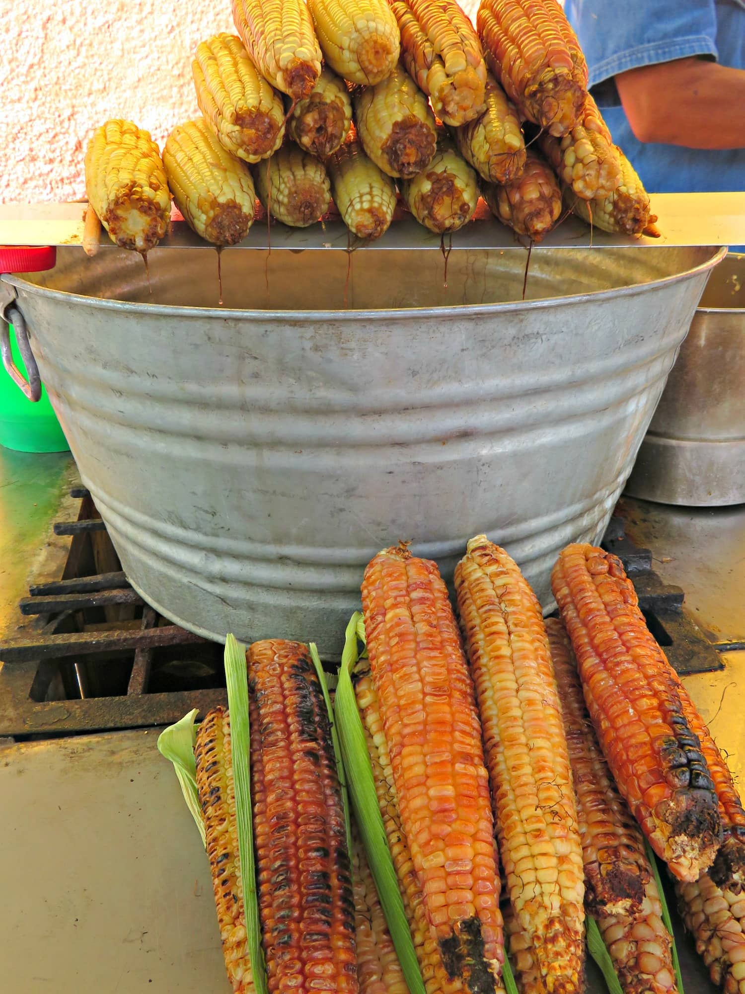 Street corn for sale in San Miguel de Allende
