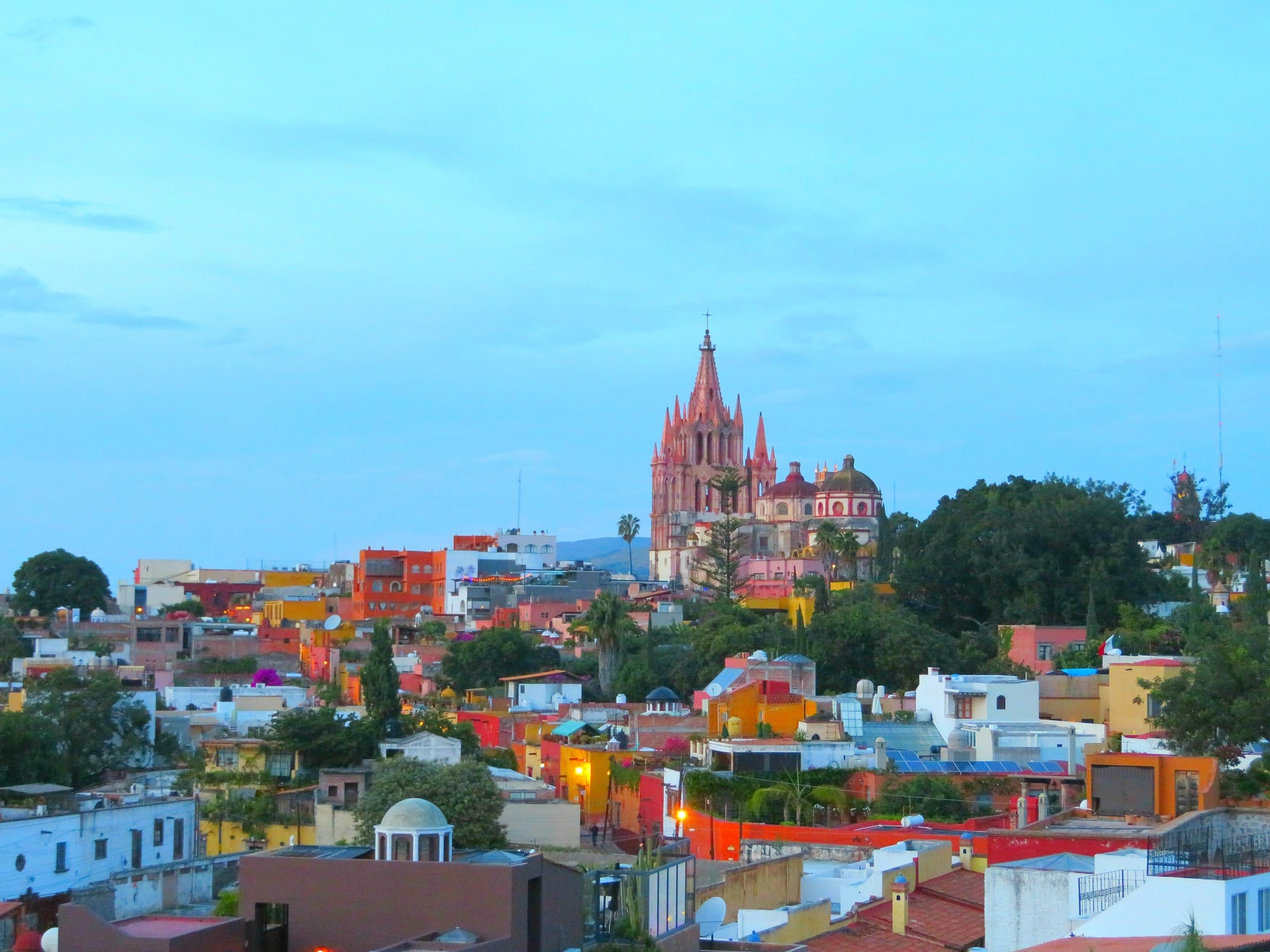 View of San Miguel de Allende from Luna Rooftop Tapas Bar at the Rosewood Hotel