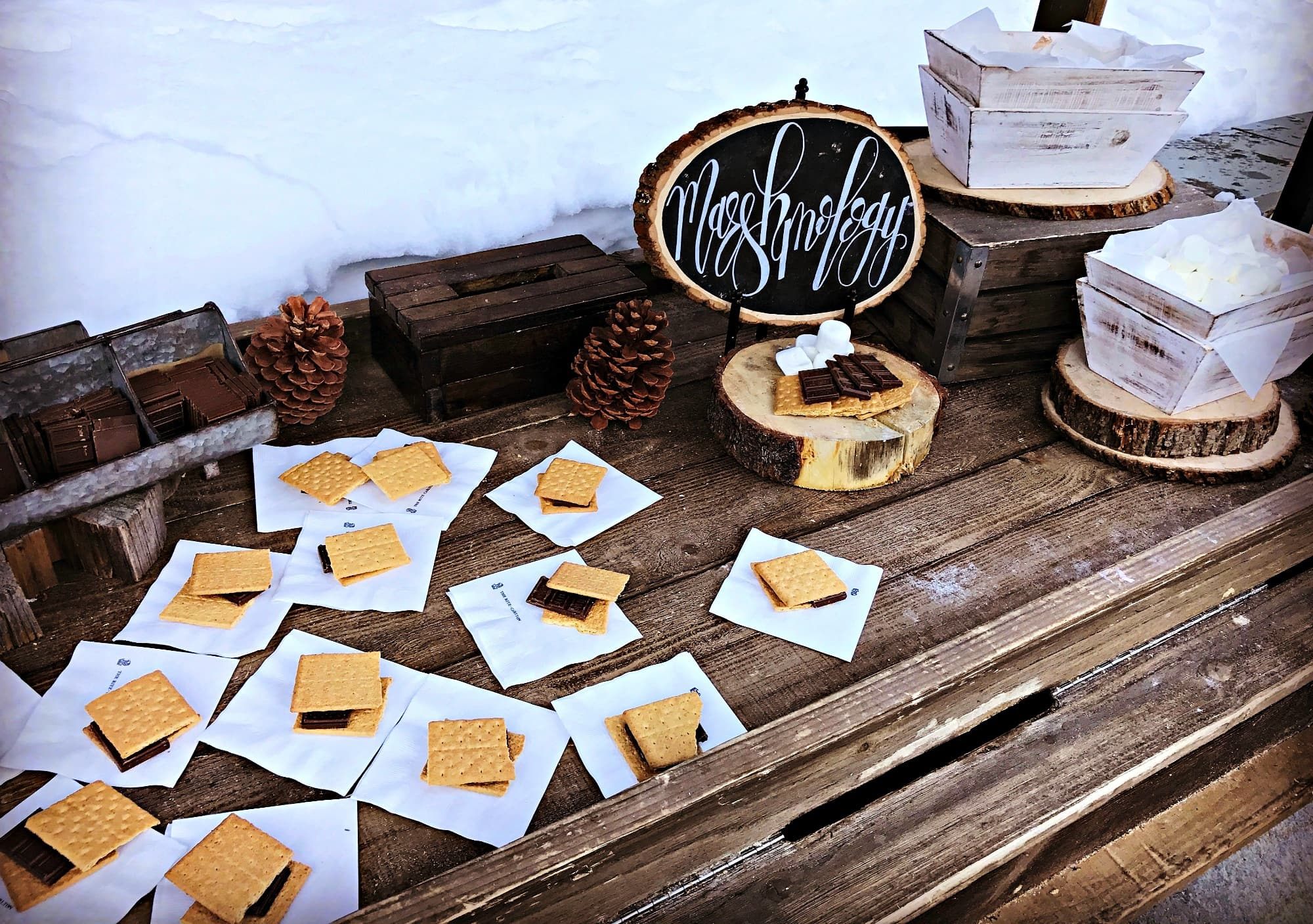 Marshmalogy at The Ritz-Carlton, Lake Tahoe makes a wonderful apres-ski treat at Northstar Ski Resort with kids