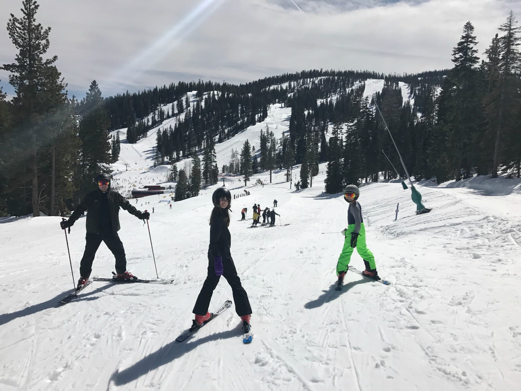 Skiing Northstar Ski Resort with kids
