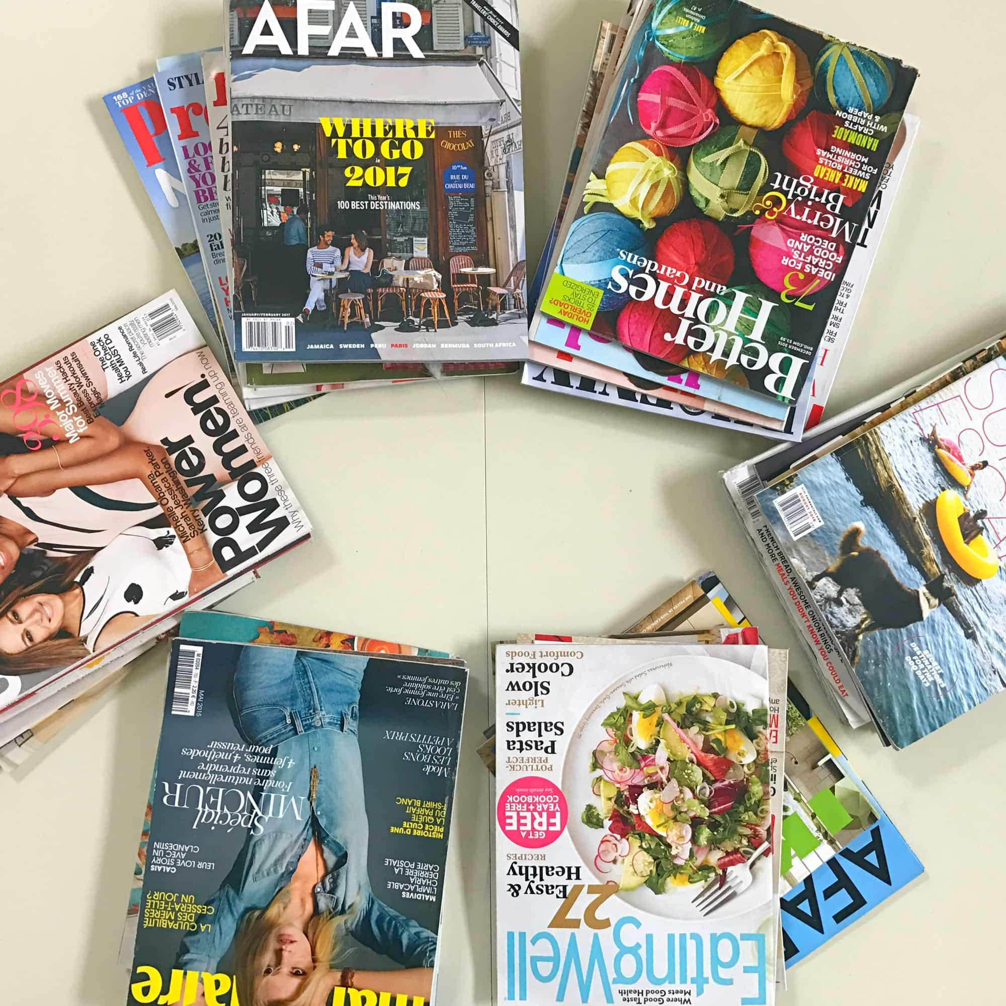 Make sure you have plenty of magazines for your vision board party!
