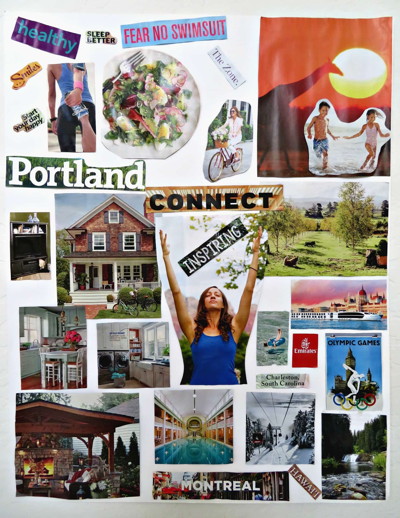 My latest vision board ~ Why and How to Host a Vision Board Party