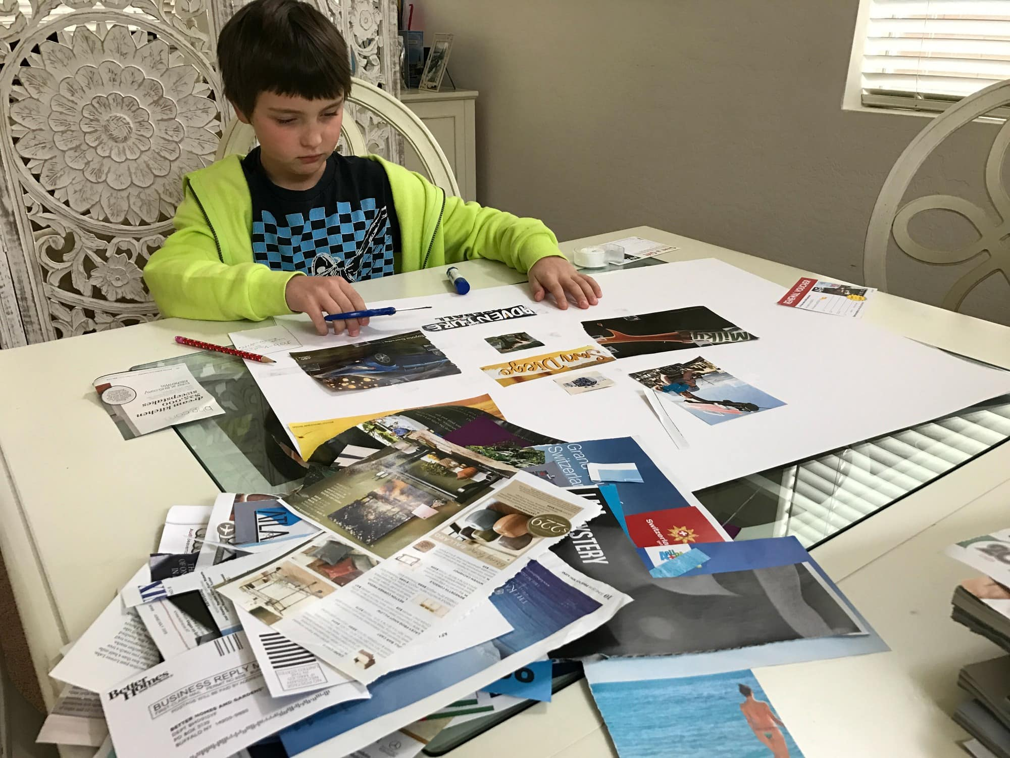 Vision boards empower kids and help them to focus on being positive