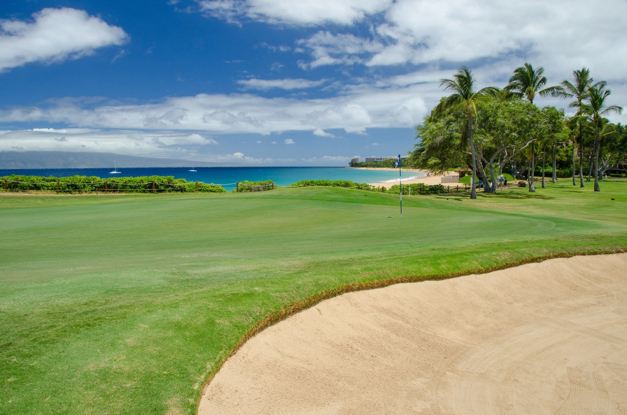 The beautiful oceanfront Kaanapali Golf Course ~ Kaanapali, Maui with Kids