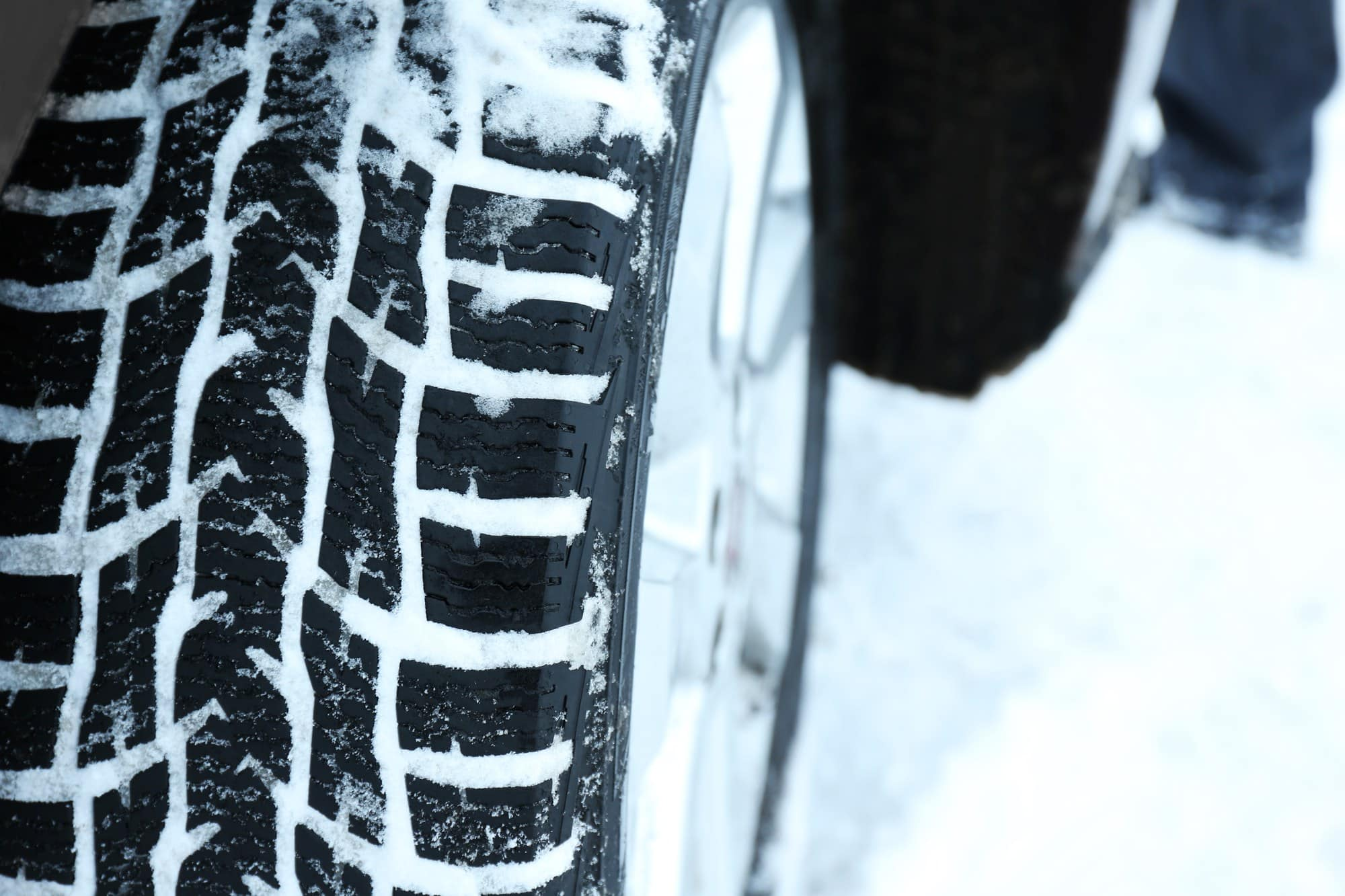 Inspect your tire's tread and inflation before your winter car trip