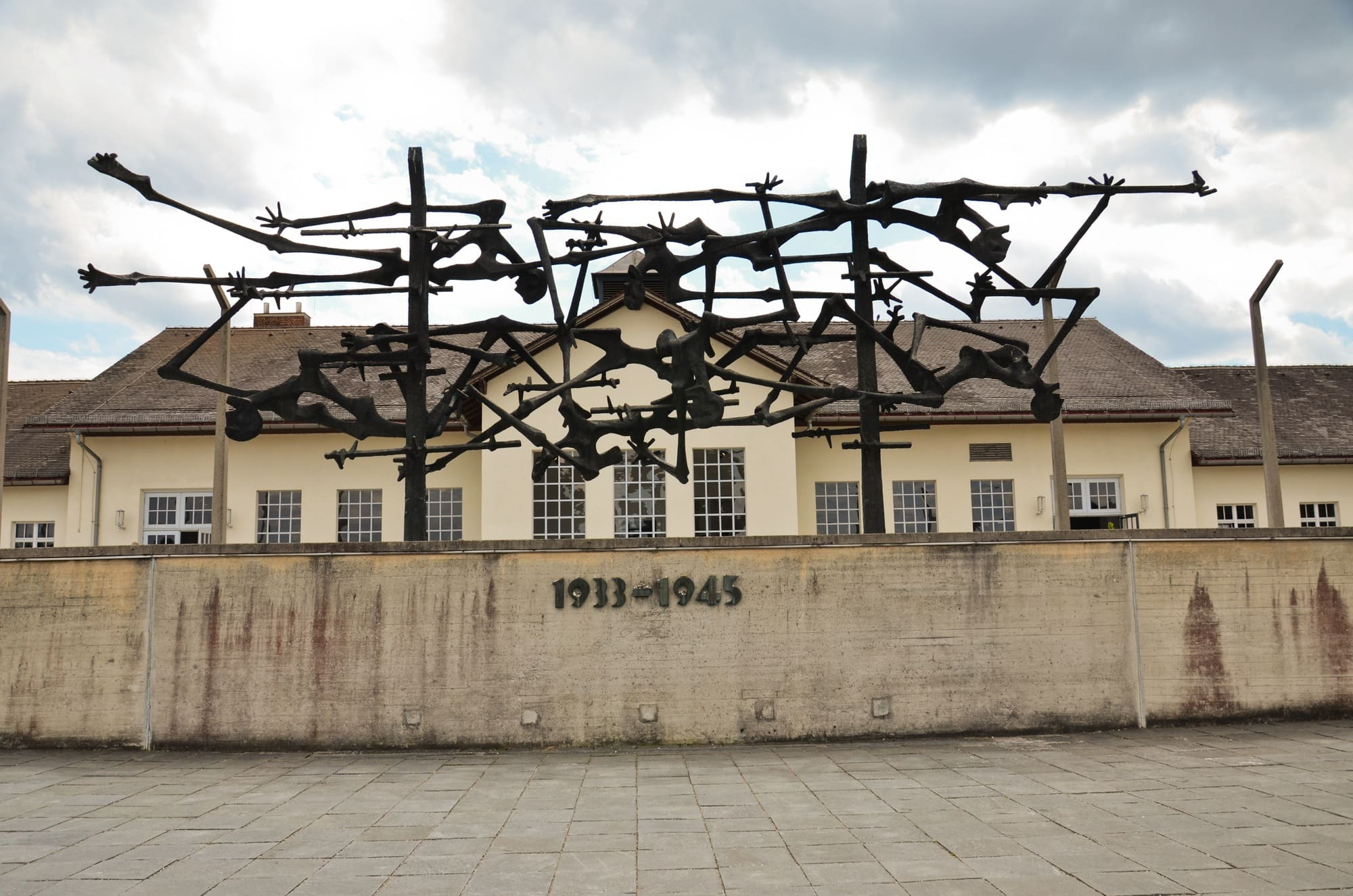 A memorial to the victims at the Dachau concentration camp
