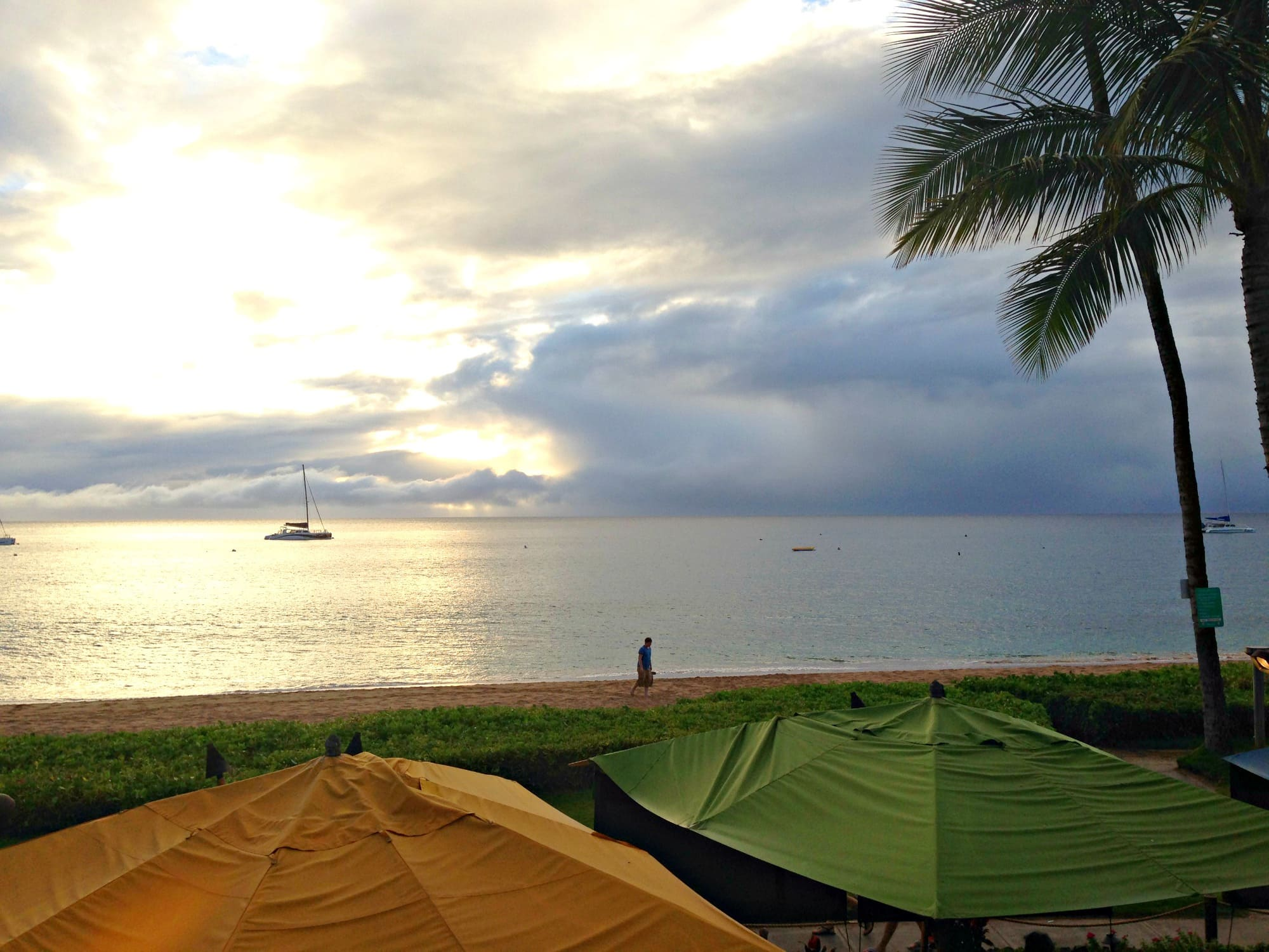View of Kaanapali Beach from Hula Grill at Whaler's Village ~ Kaanapali, Maui with kids