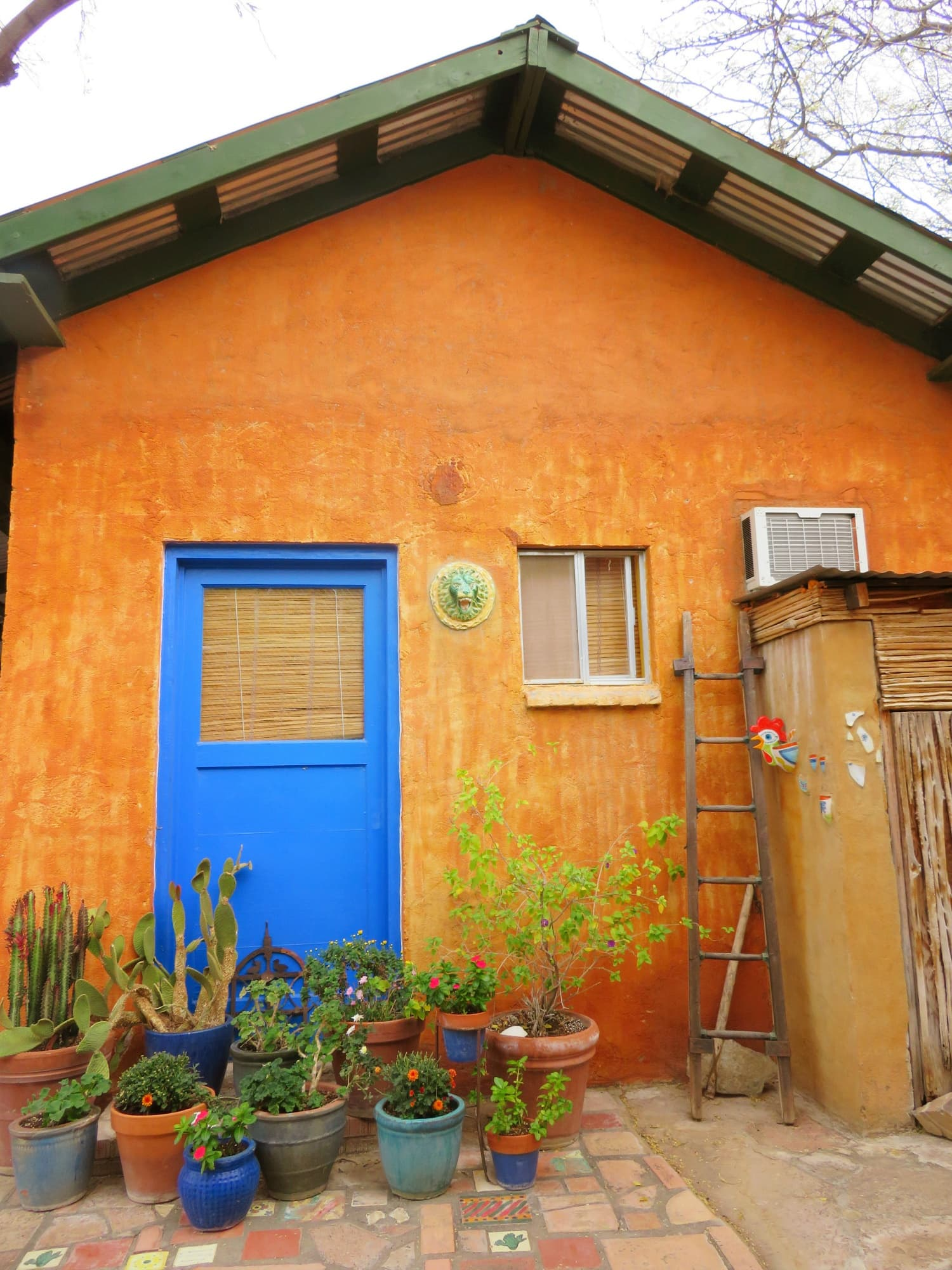 The aptly named Blue Door Casita is just the right size for a romantic getaway at Aravaipa Farms Inn