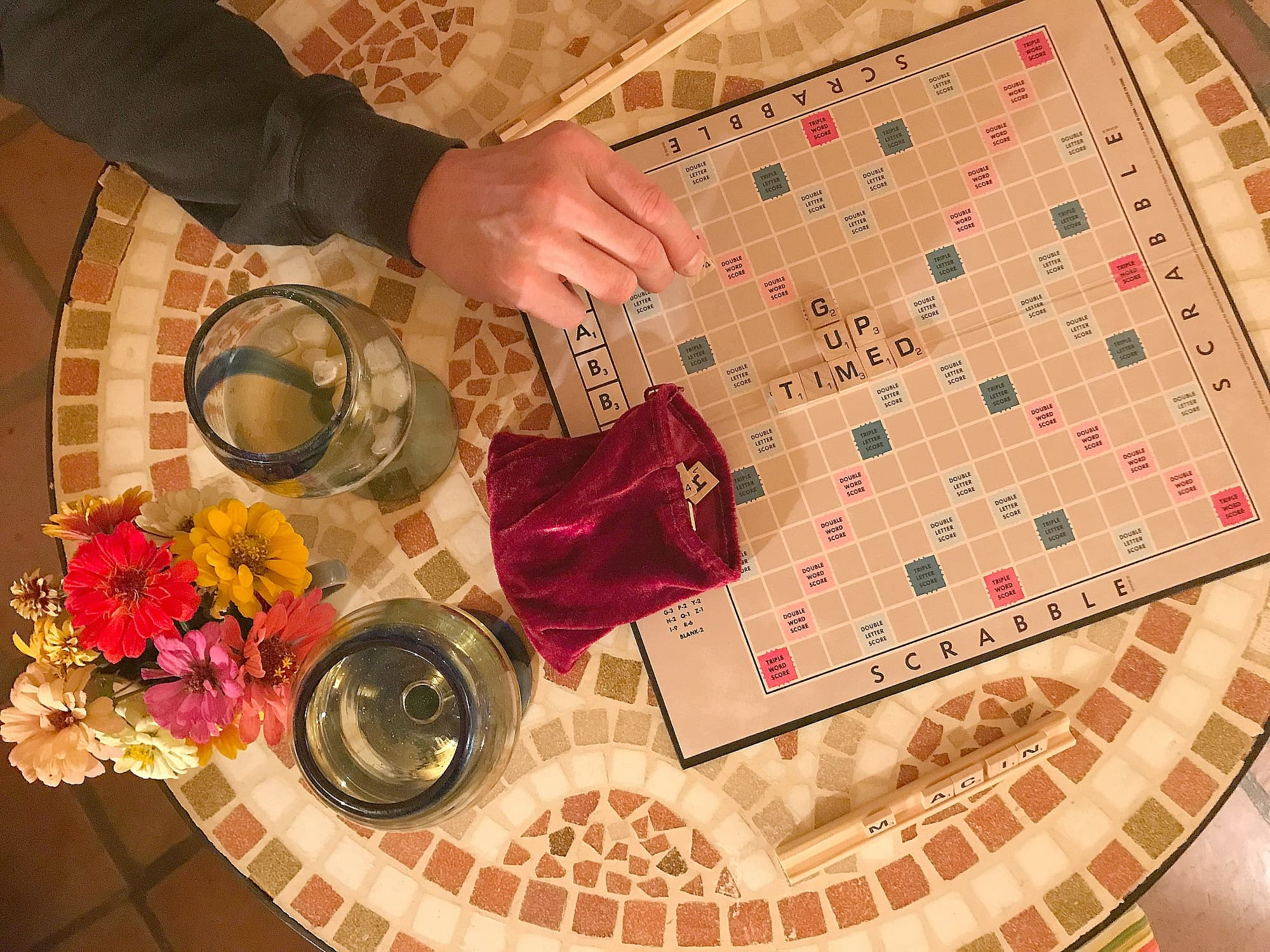 My husband and I brought our Scrabble board from home, but there was a deck of cards in our casita as well at Aravaipa Farms Inn