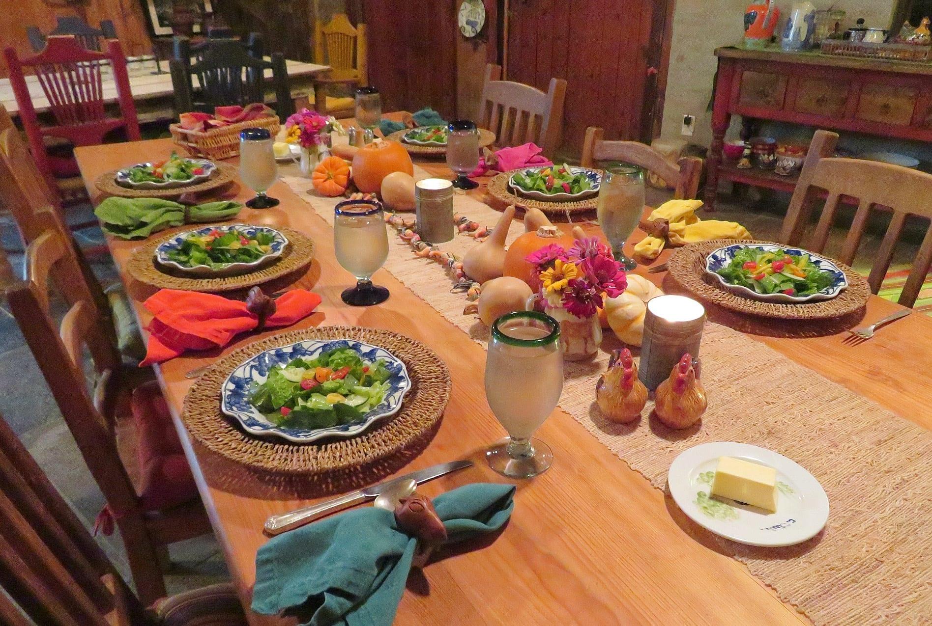 Enjoy three-course, farm-to-table meals at Aravaipa Farms Inn