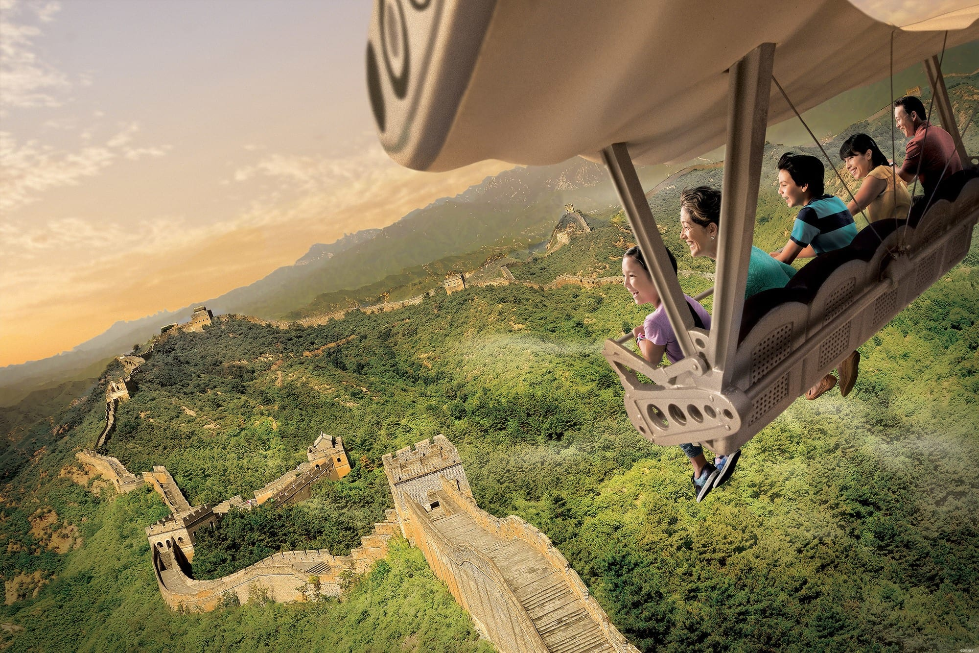 Soarin' Around the World takes riders flying past some the Earth's most iconic monuments ~ Educational things to do at Disneyland with kids