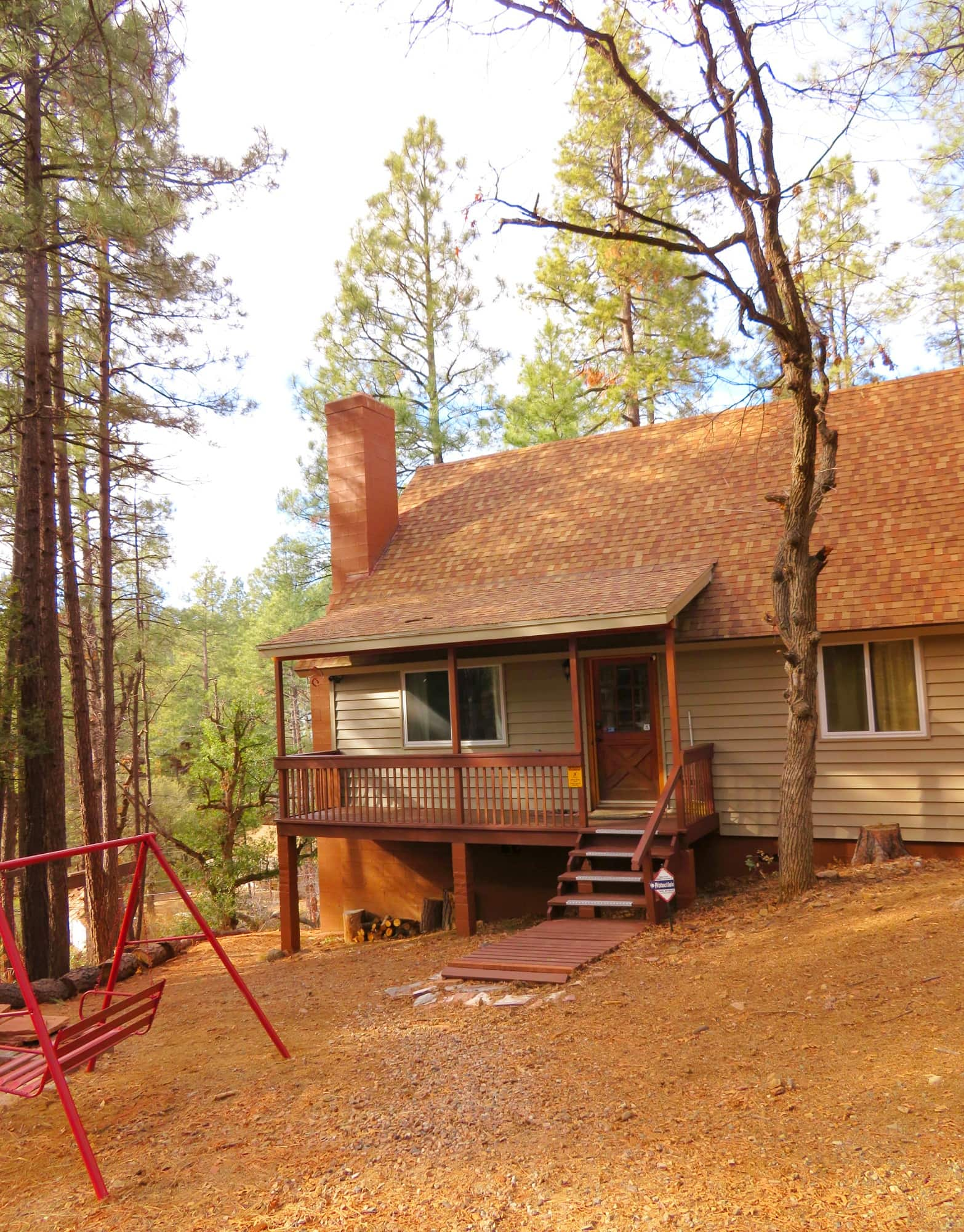 Our HomeAway cabin in the woods in Prescott with kids