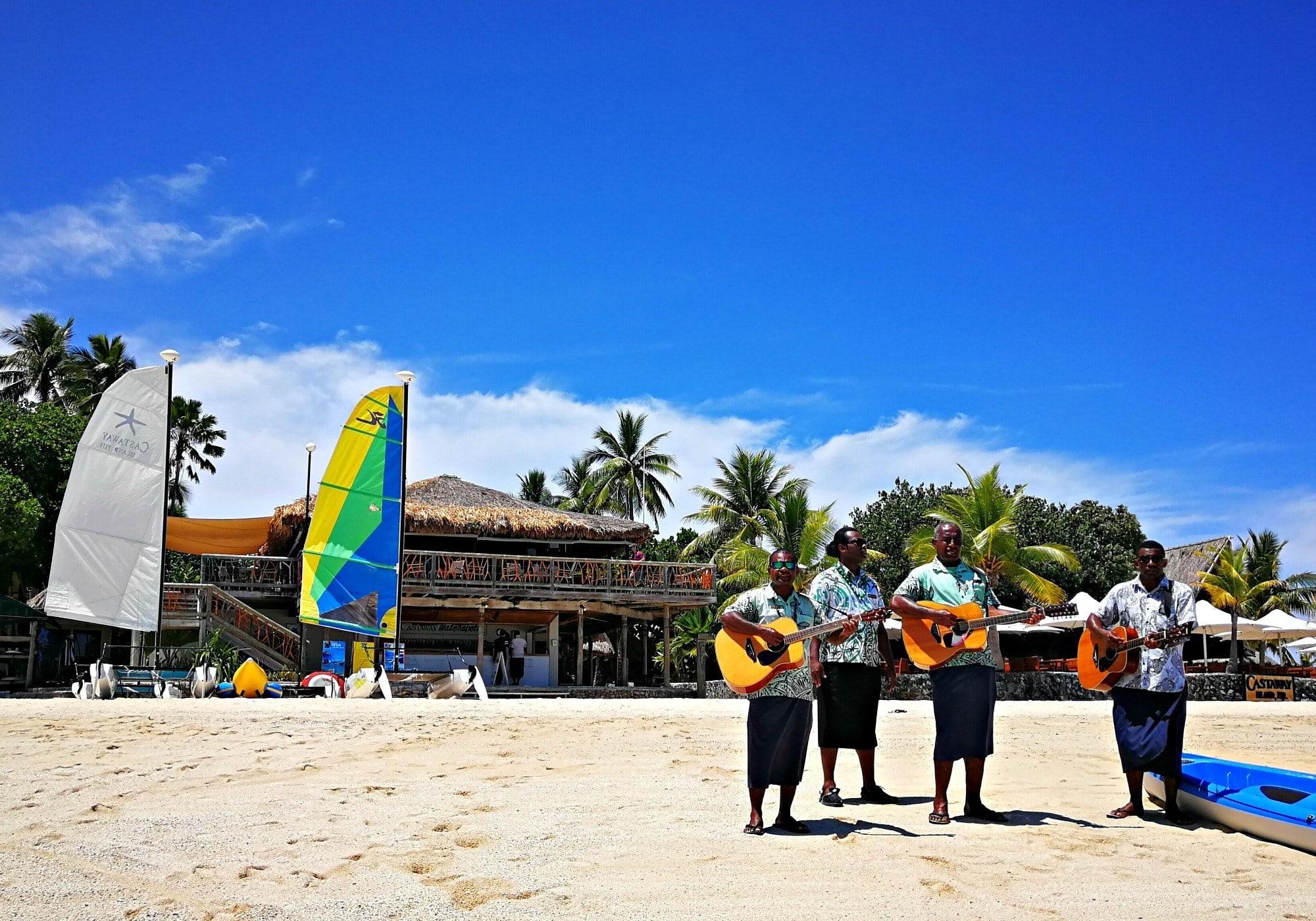 A warm island greeting at Castaway ~ Fiji with Kids