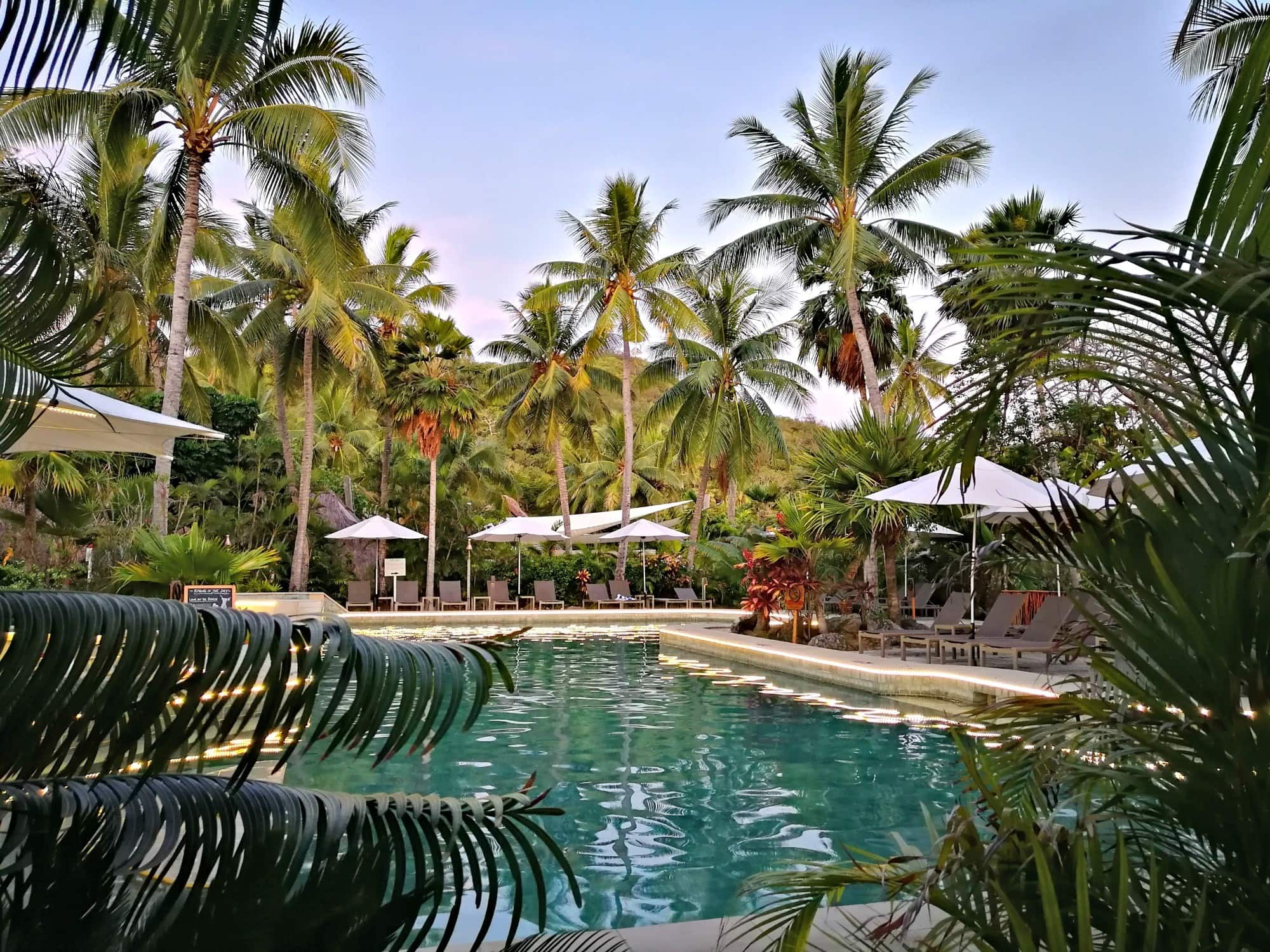 Pool at the Outrigger Reef Fiji Resort ~ Fiji with kids