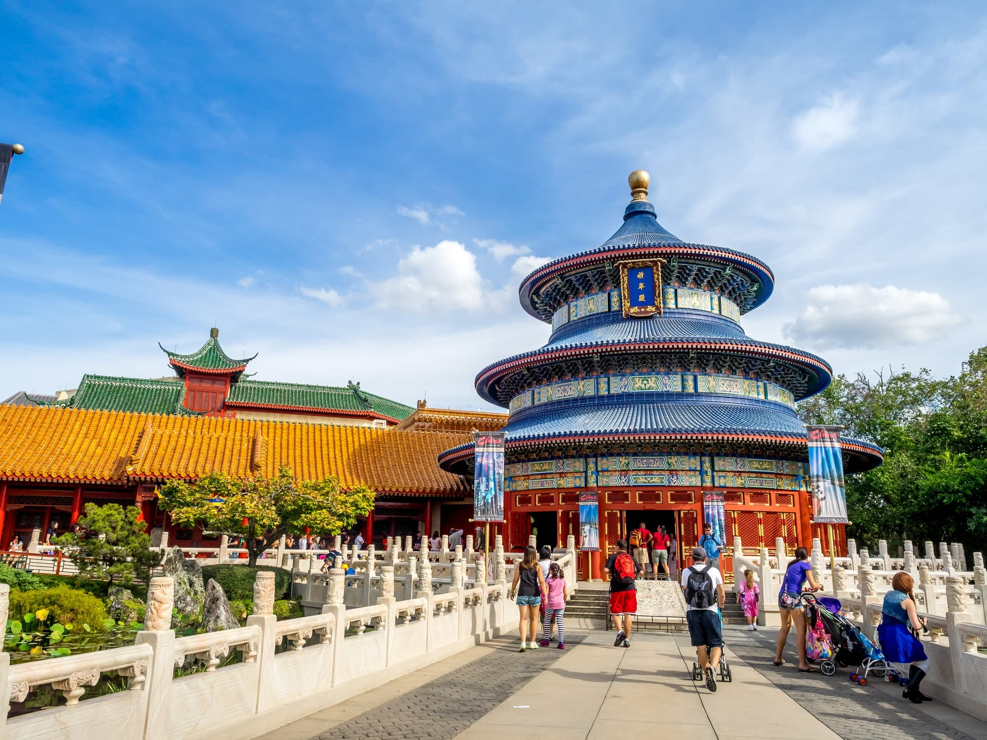 China is one of 11 countries you can visit at EPCOT with kids