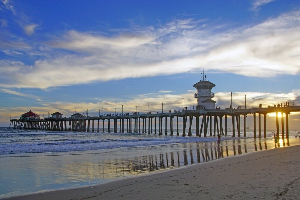 Huntington Beach is the ultimate surfer town to visit in California with kids