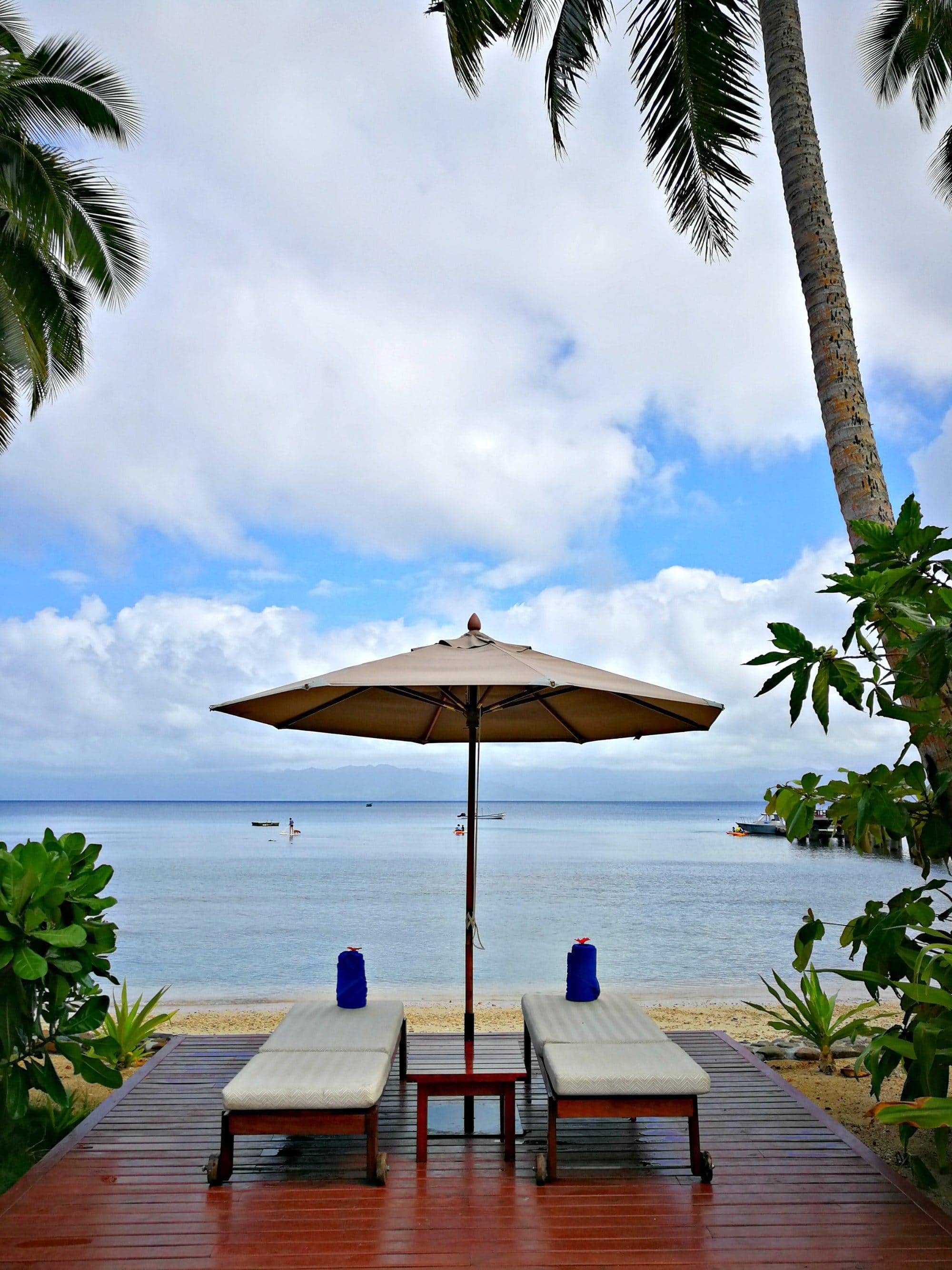 Relaxation with an ocean view at Jean-Michel Cousteau Resort ~ Fiji with kids