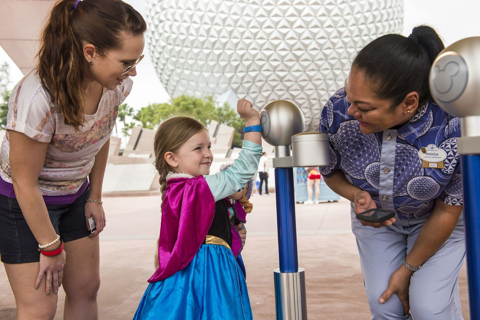 MagicBands are used for park entry and FastPass+ and more at EPCOT with kids