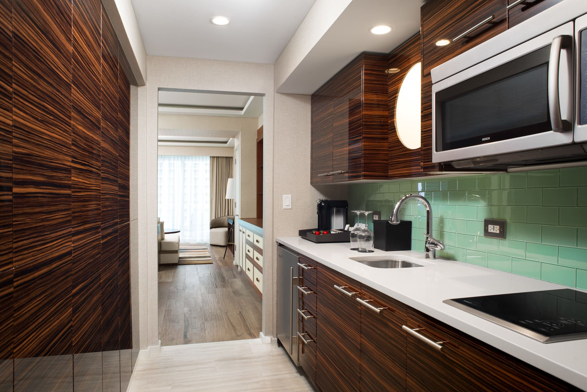 A kitchen makes travel with kids much easier at Conrad Fort Lauderdale Beach