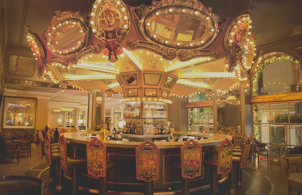 The spinning Carousel Bar at Hotel Monteleone features live jazz three to four nights per week