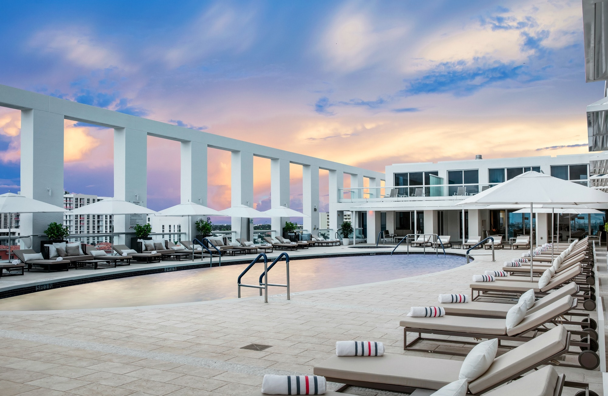 The dreamy pool at Conrad Fort Lauderdale Beach
