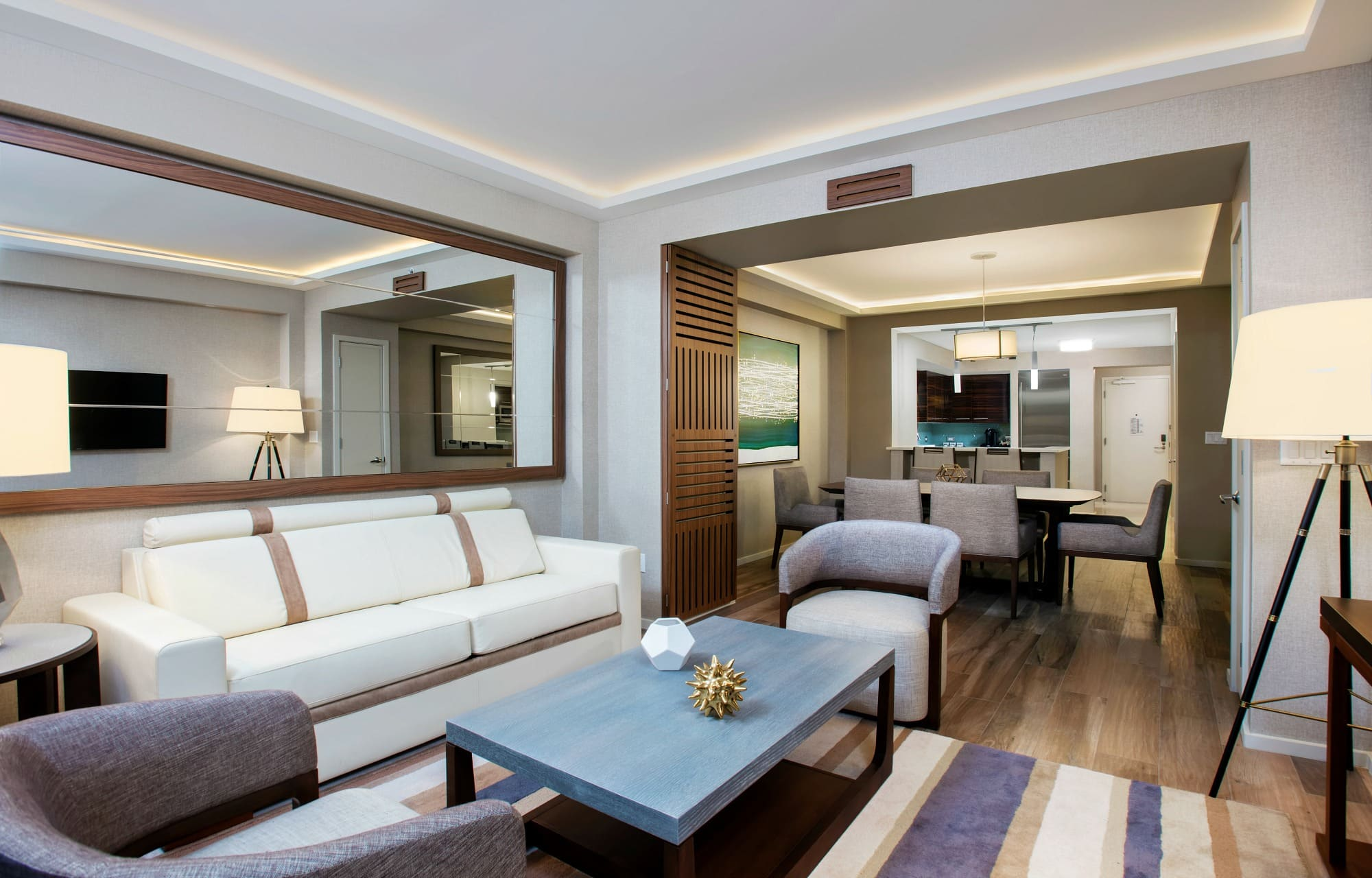 An Expansive Suite With Plenty Of Room For Traveling Families At Conrad Fort Lauderdale Beach