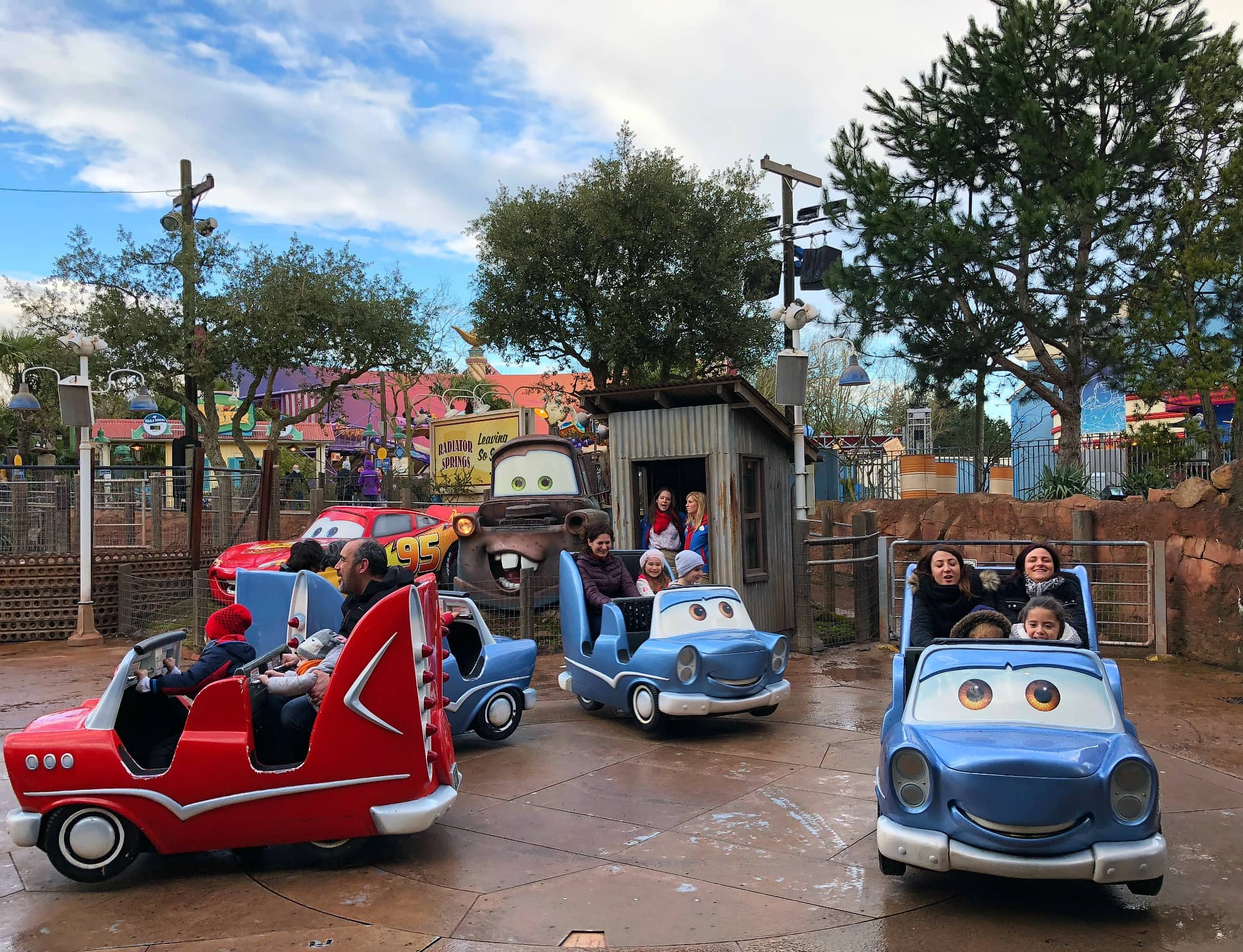 Cars Quatre Roues Rallye, or Cars Race Rally at Walt Disney Studios Park at Disneyland Paris with kids