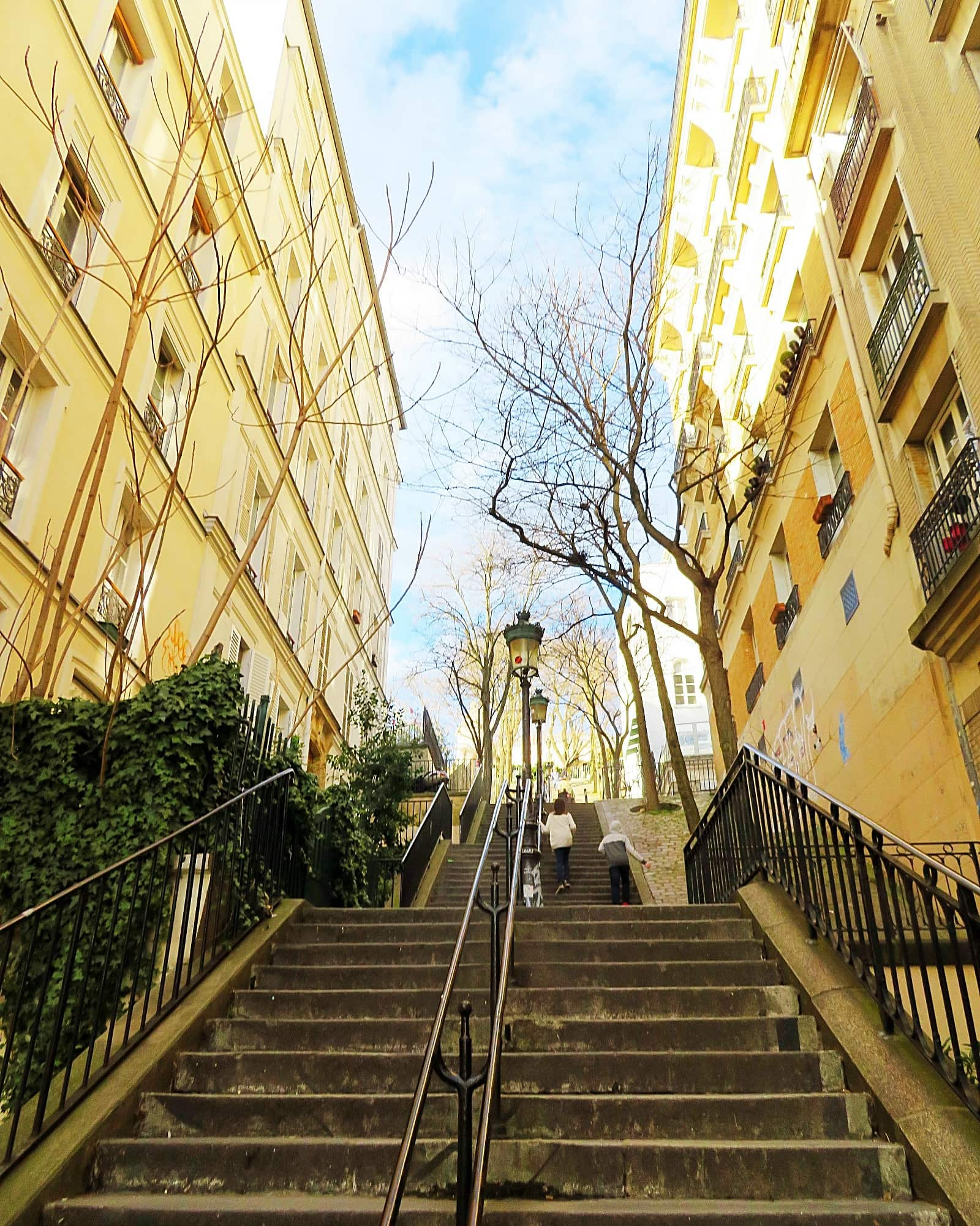 Big kids can climb the stairs to Montmartre, but families with young children may be better off taking the funicular