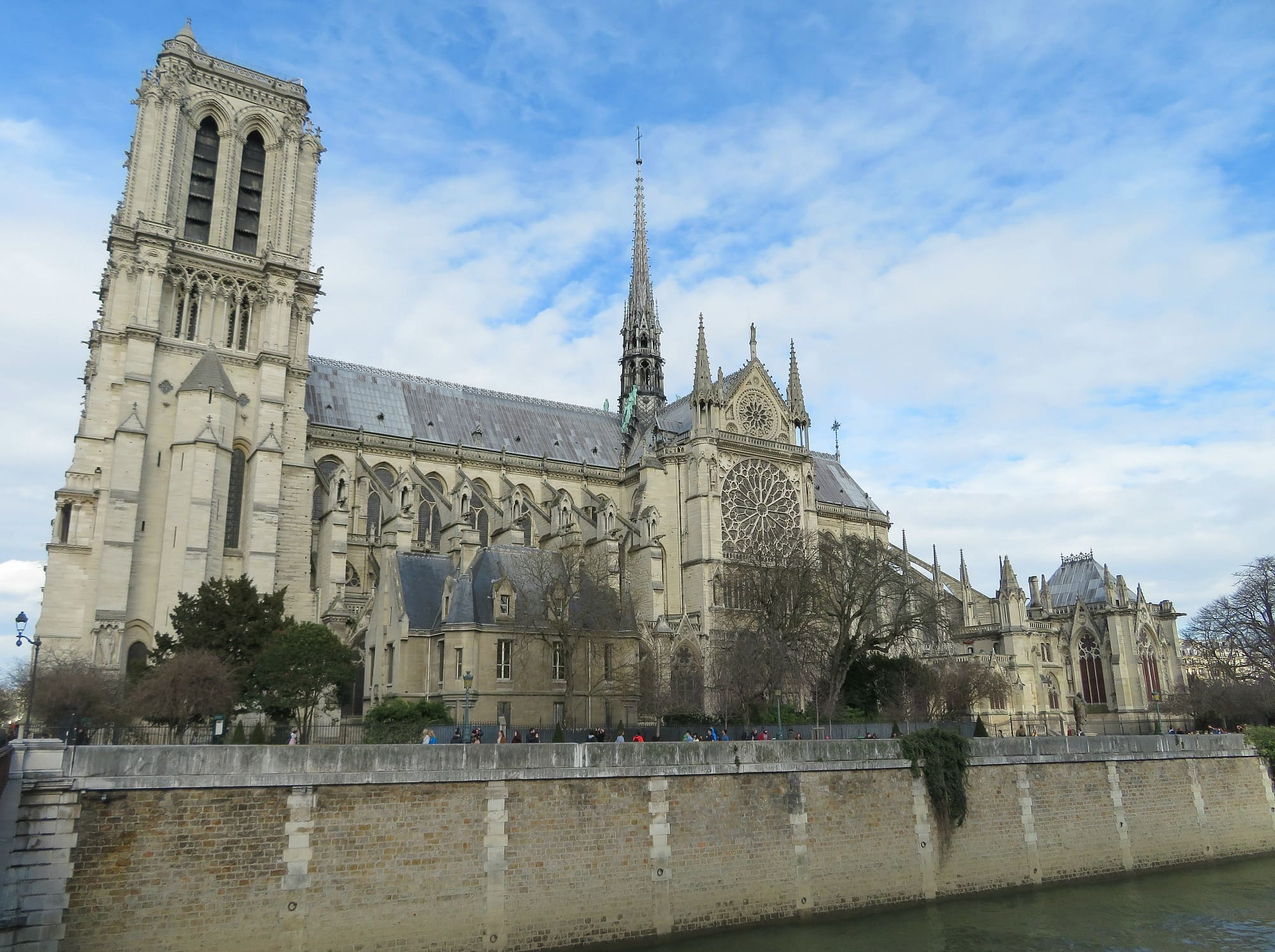 Learn about the history and architecture of Notre-Dame Cathedral during a tour of Paris with kids