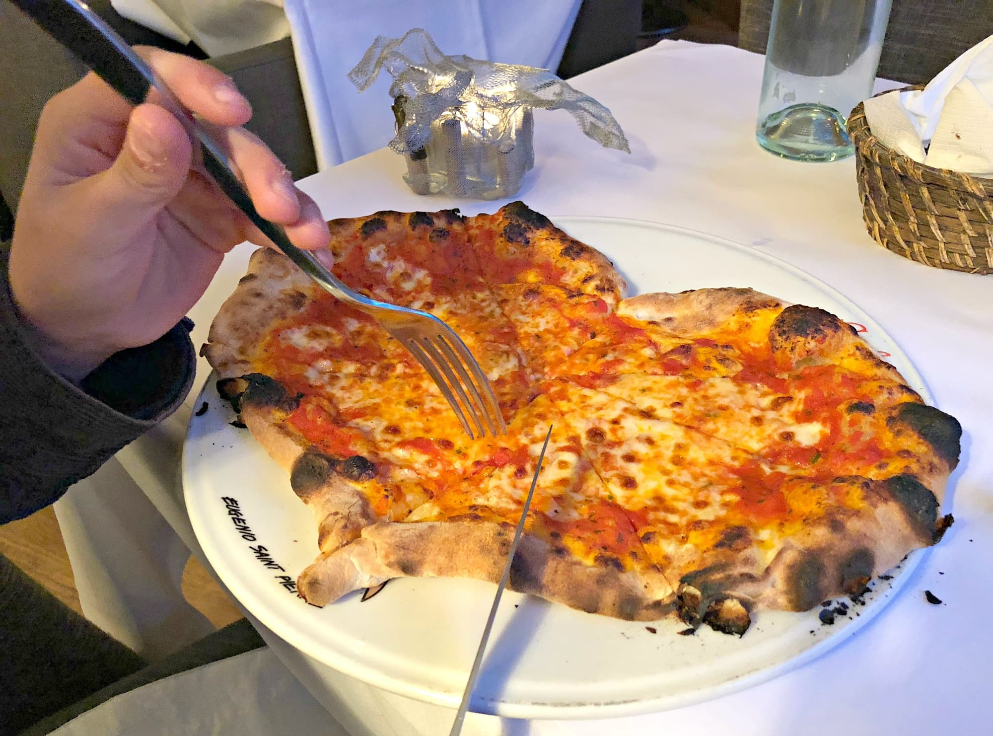 A heart-shaped Parisian pizza