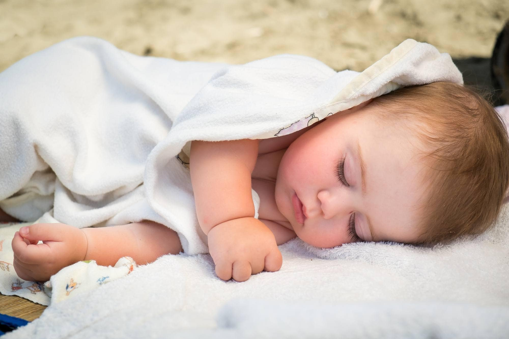 Grab naps where you can when traveling with babies and young children